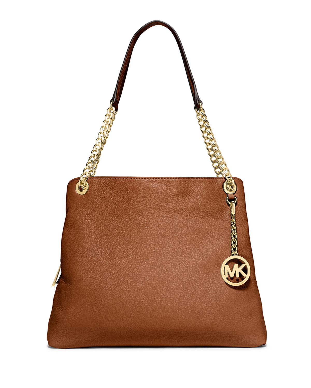 michael michael kors jet set large shoulder bag in brown. Black Bedroom Furniture Sets. Home Design Ideas