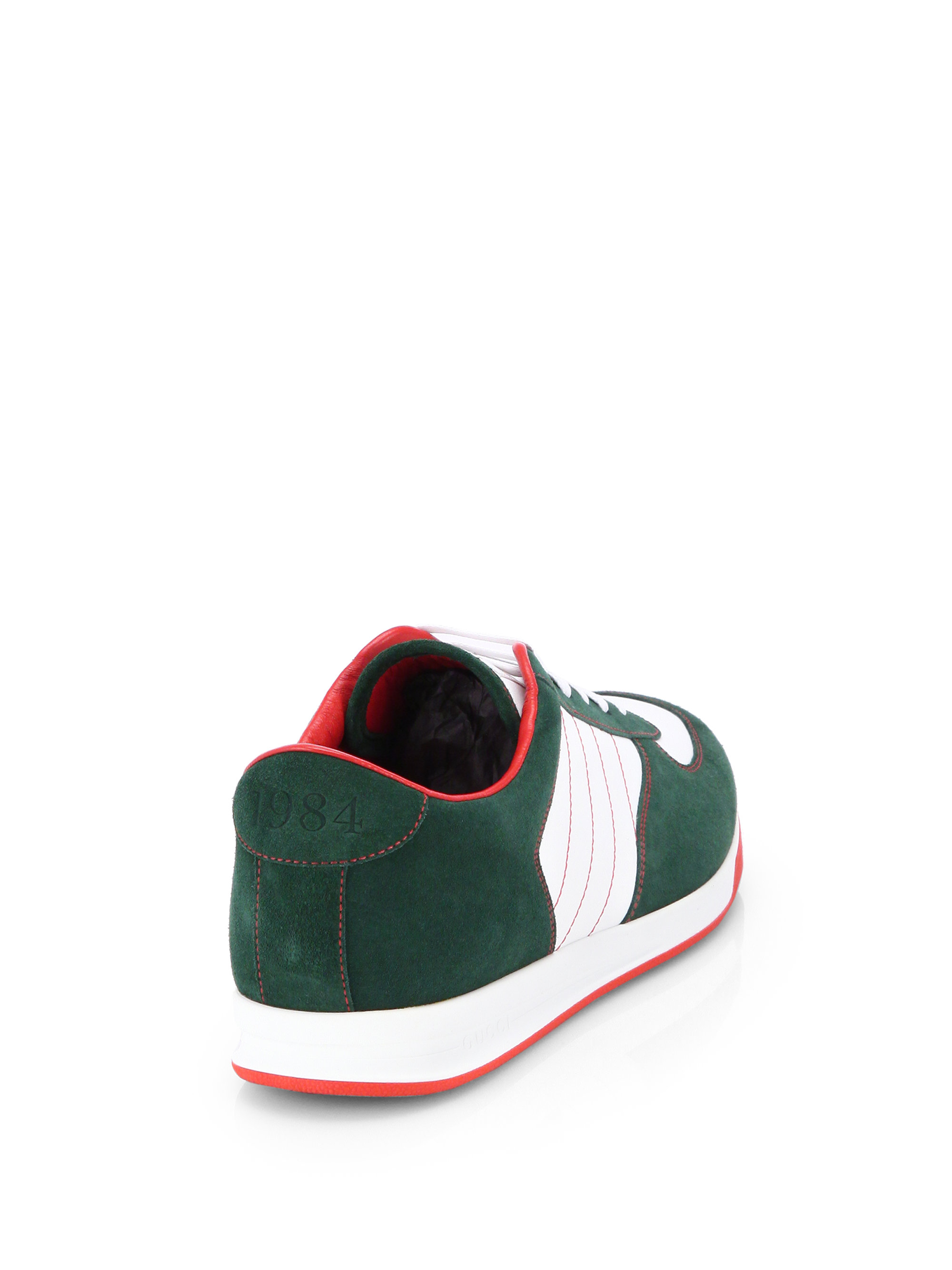 d38fdf8f076 Lyst - Gucci Suede Anniversary Sneakers in Green for Men