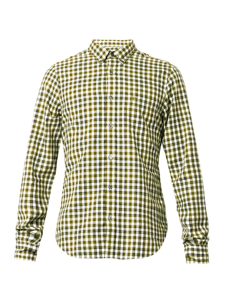 Lyst Burberry Brit Evans Gingham Check Shirt In Green