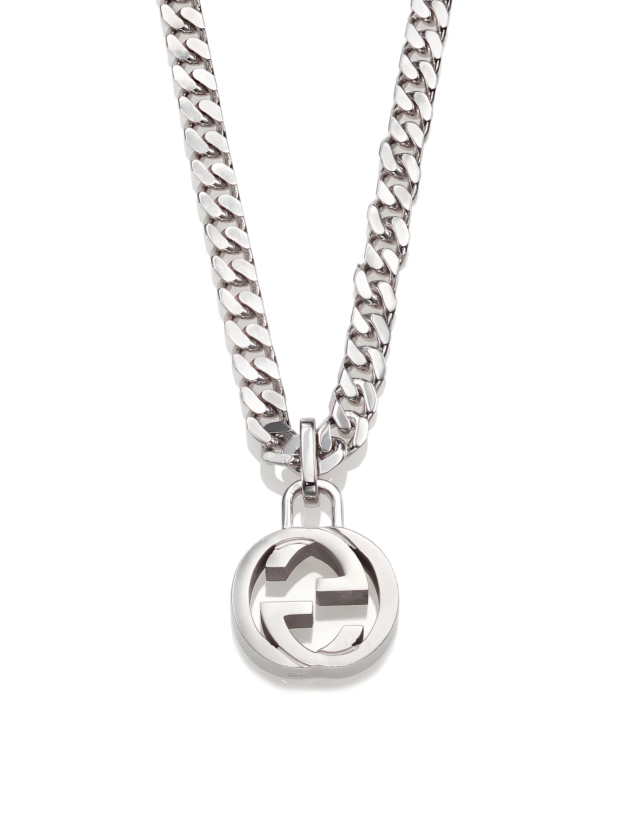 Gucci Interlocking G Sterling Silver Pendant Necklace