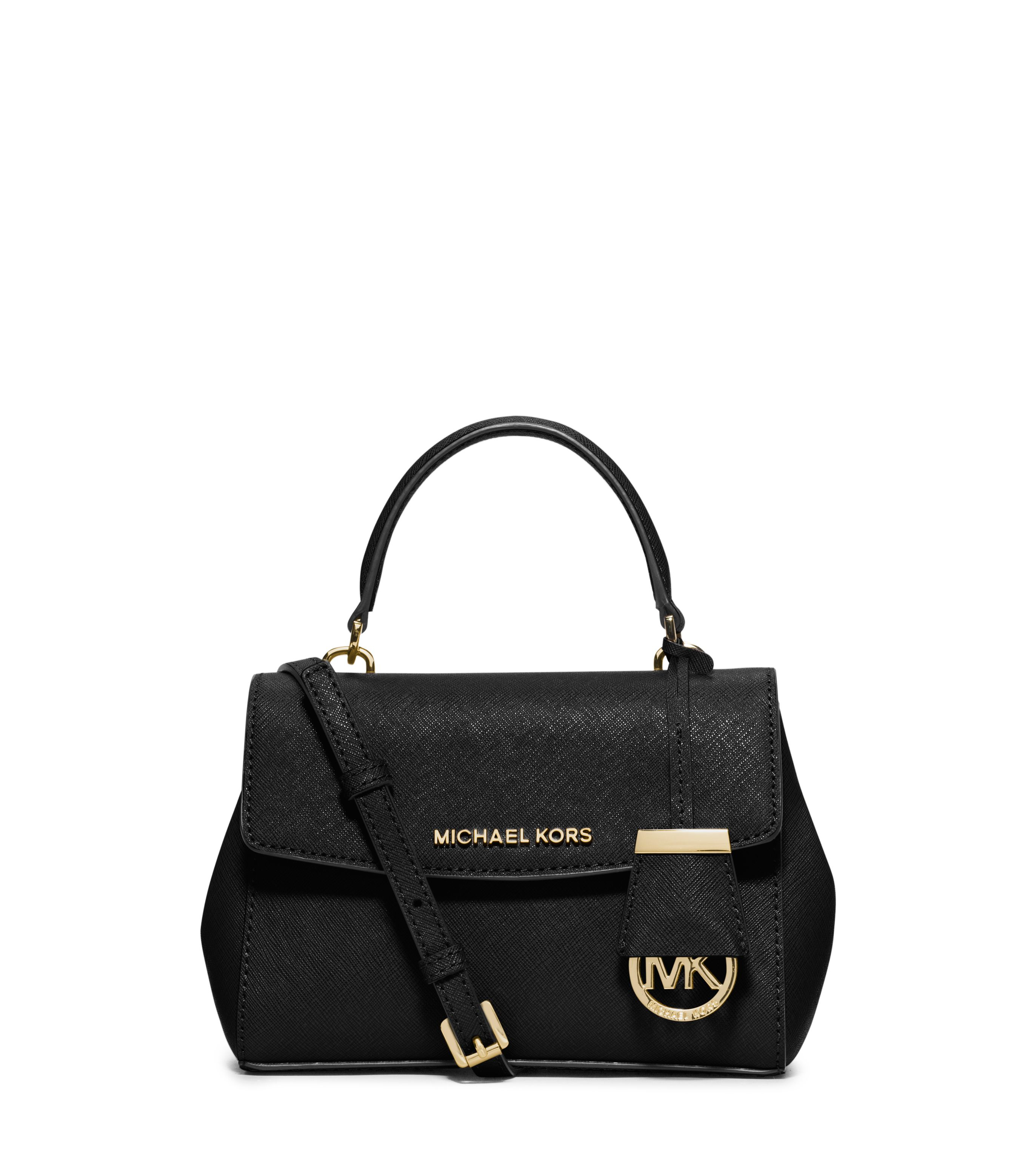 Michael Kors Ava Black Mini Satchel Bag In Black Lyst