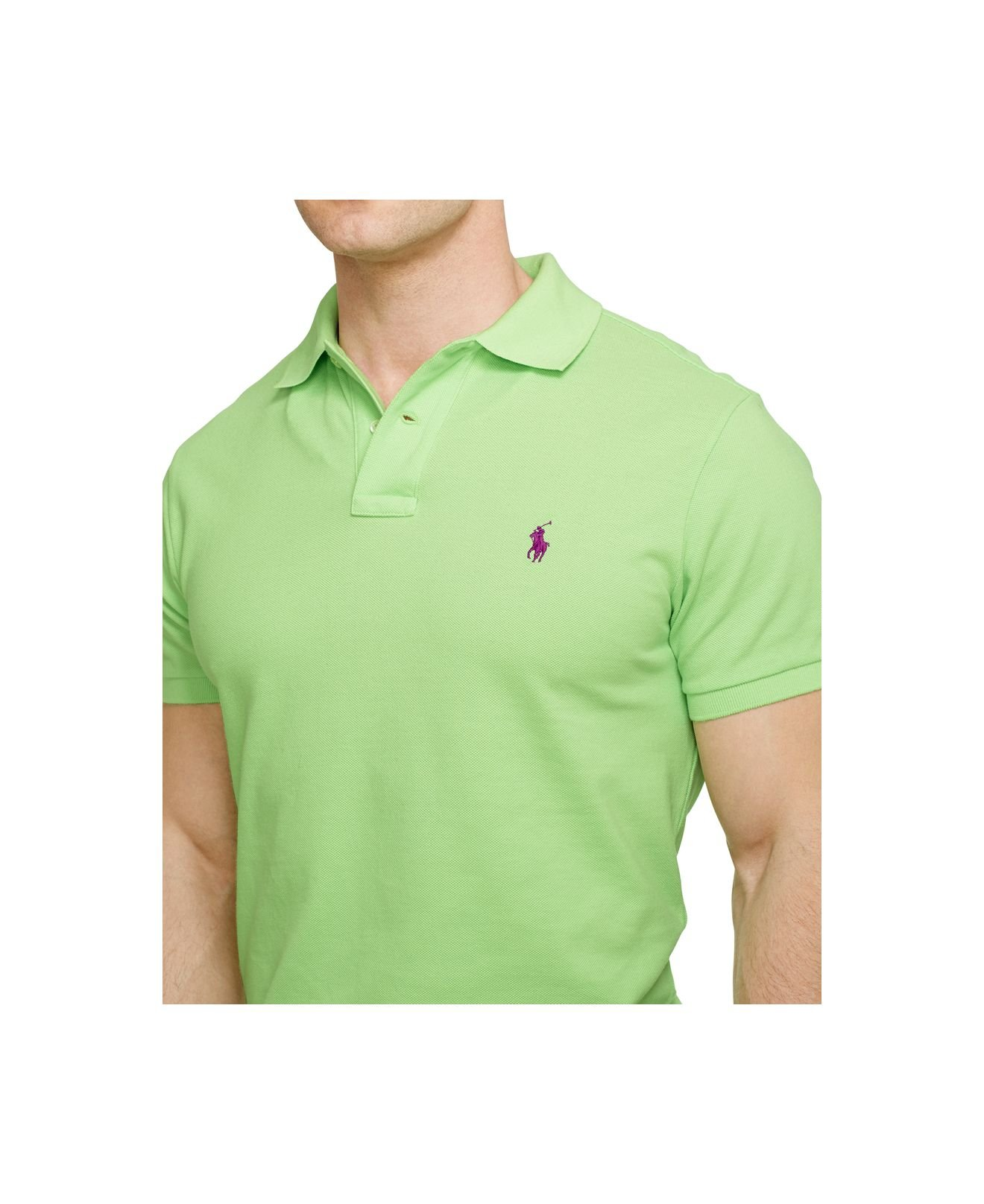 aaa70934 ... coupon code for lyst polo ralph lauren classic fit mesh polo in green  for men c326a