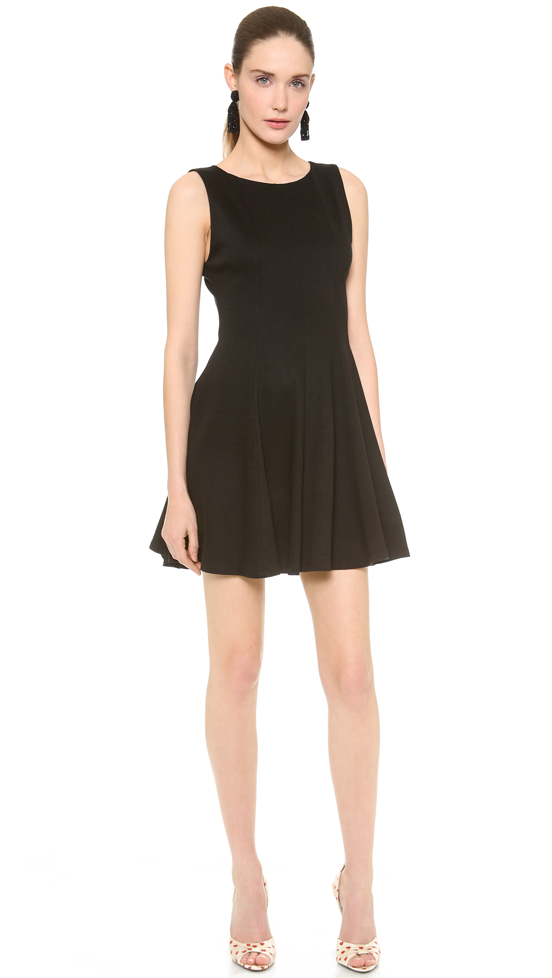 alice olivia alice olivia betsey seamed fit flare dress