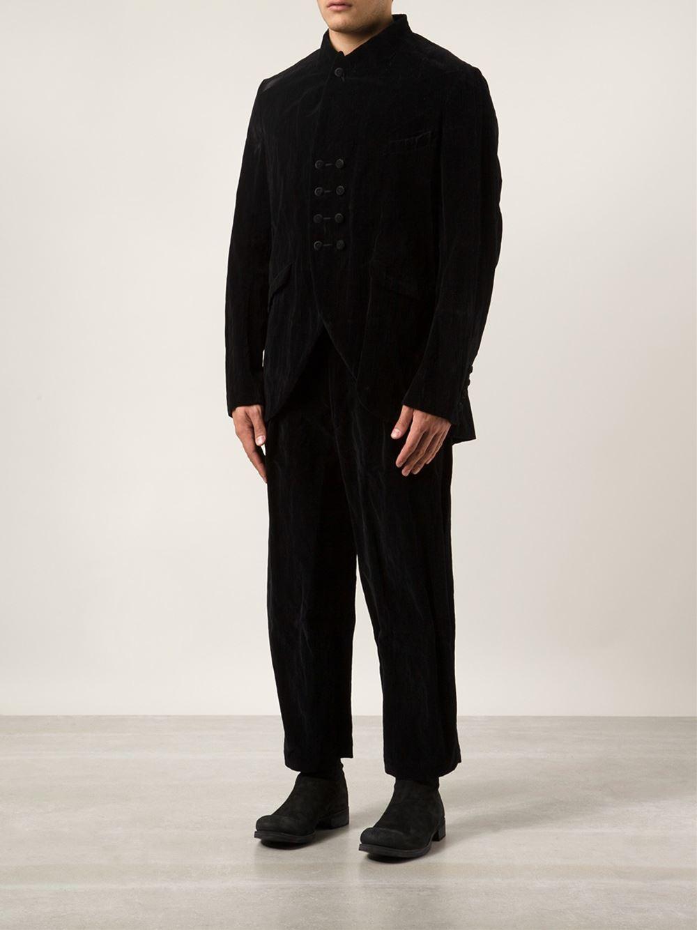 Ziggy Chen Velvet Jacket in Black for Men
