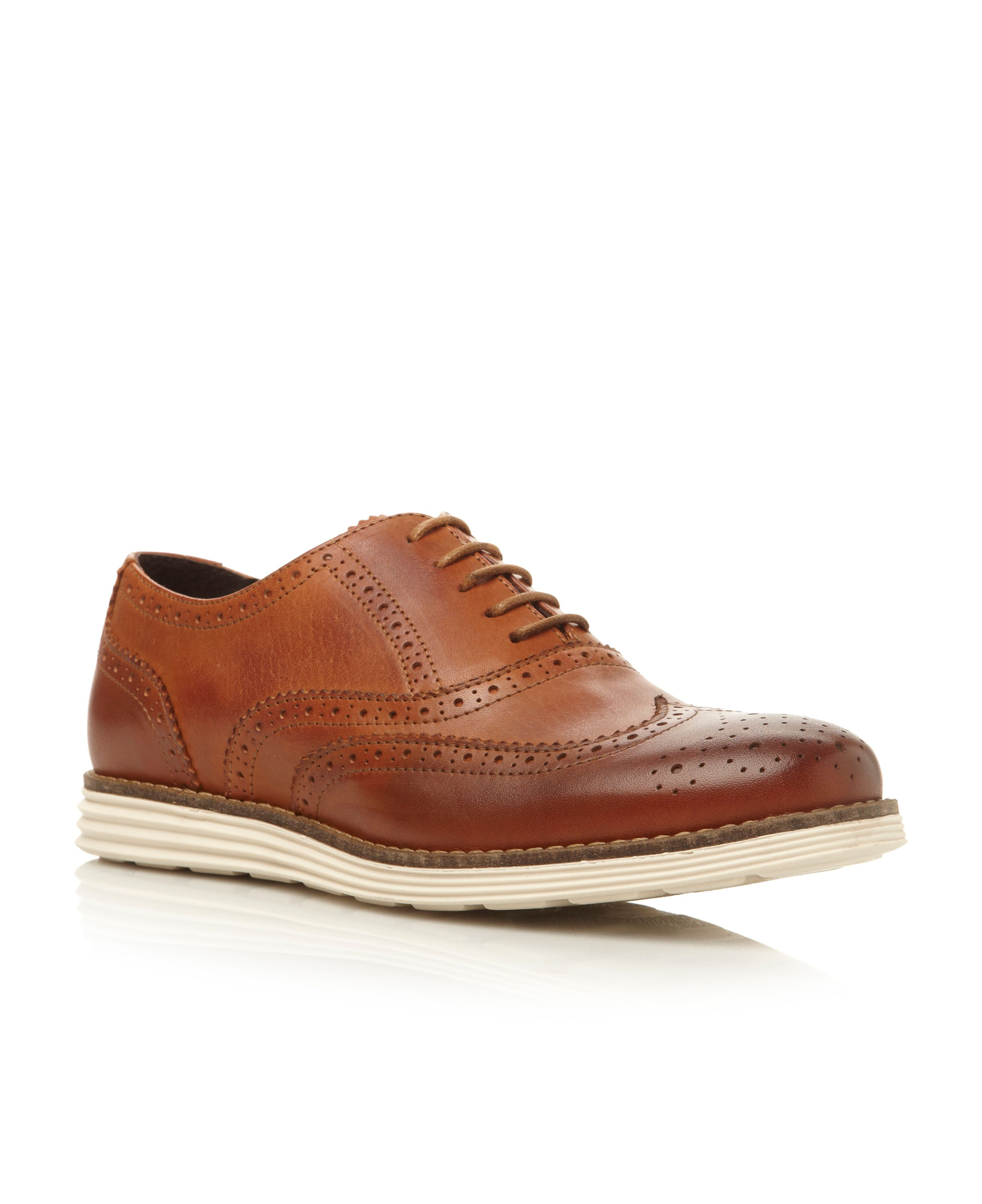 Dune Brown Oxford Shoes