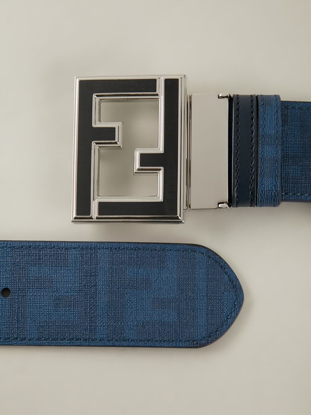 Fendi College Belt in Blue for Men | Lyst