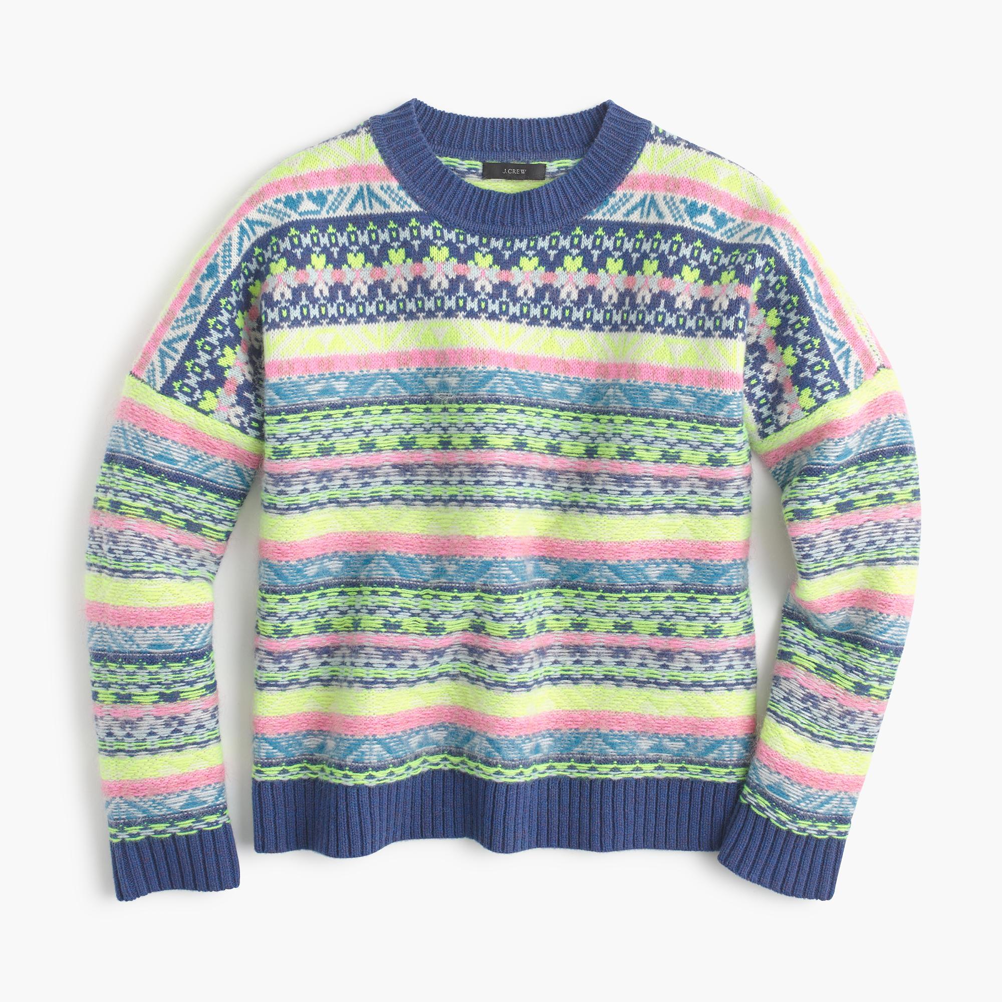J.Crew Fair Isle Crewneck Sweater - Lyst 394465117c