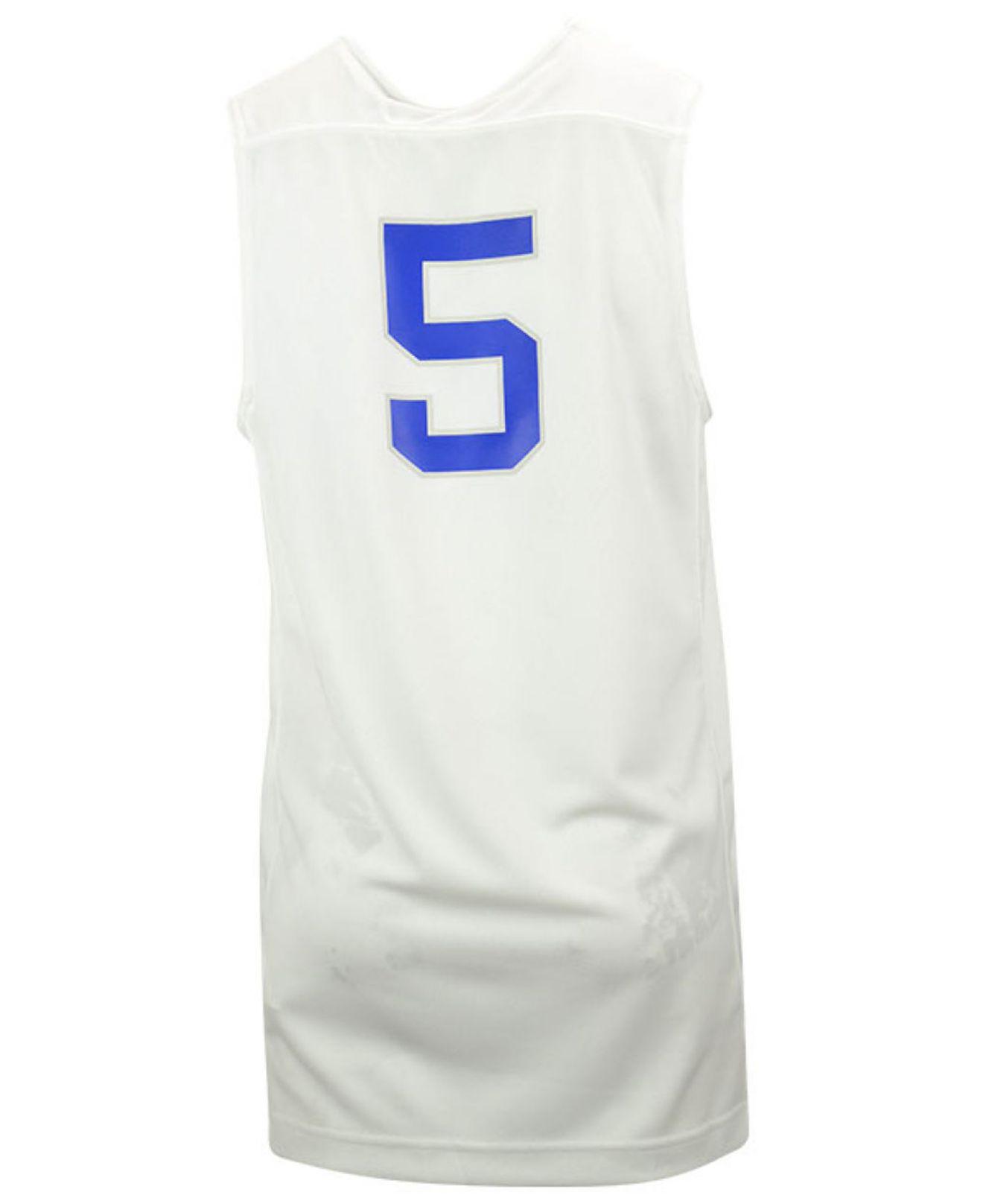 b74e6bd60fc Nike White Men'S Kentucky Wildcats Replica Basketball Jersey for men