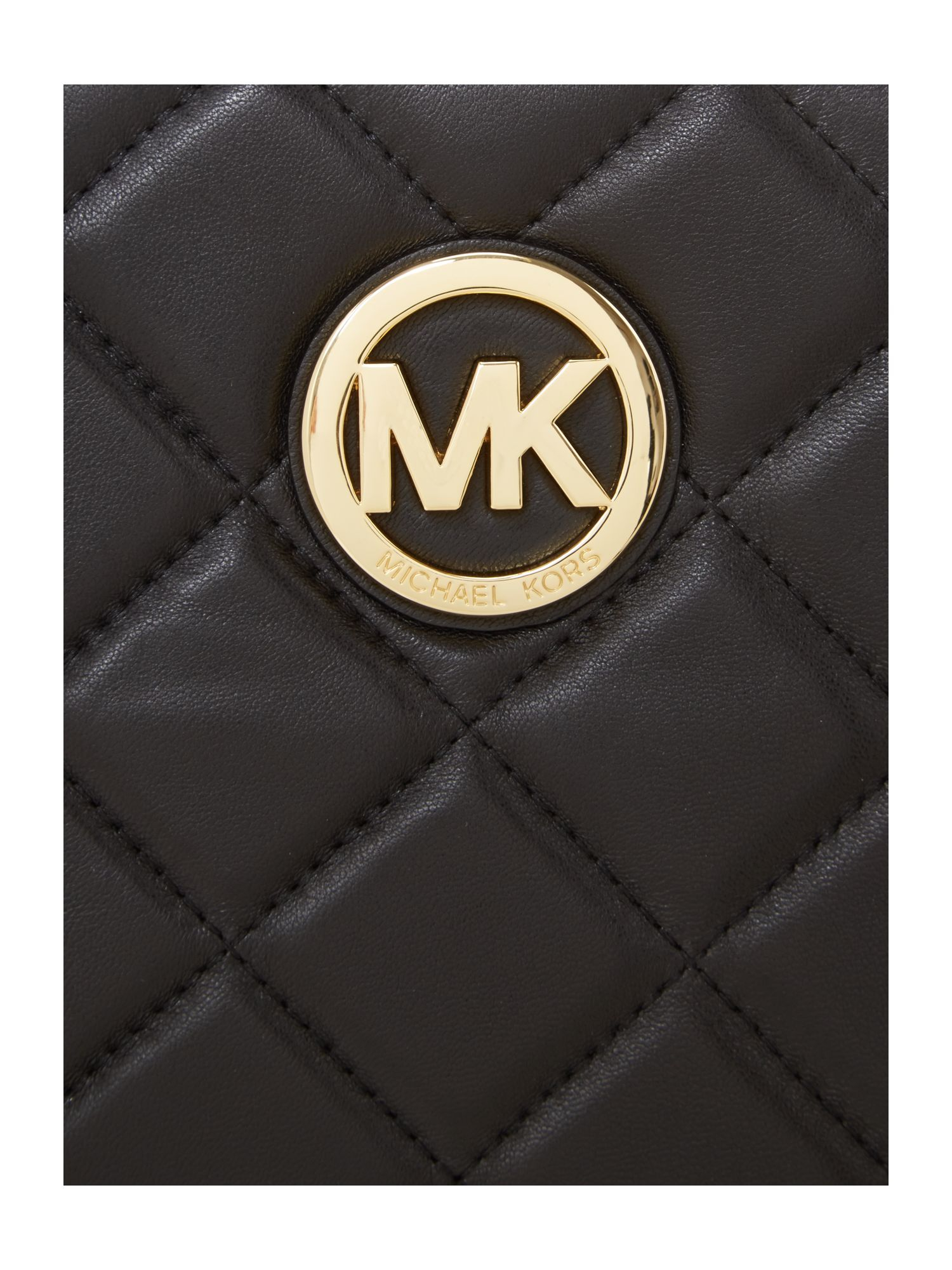 Michael Kors Fulton Black Quilt Tote Bag