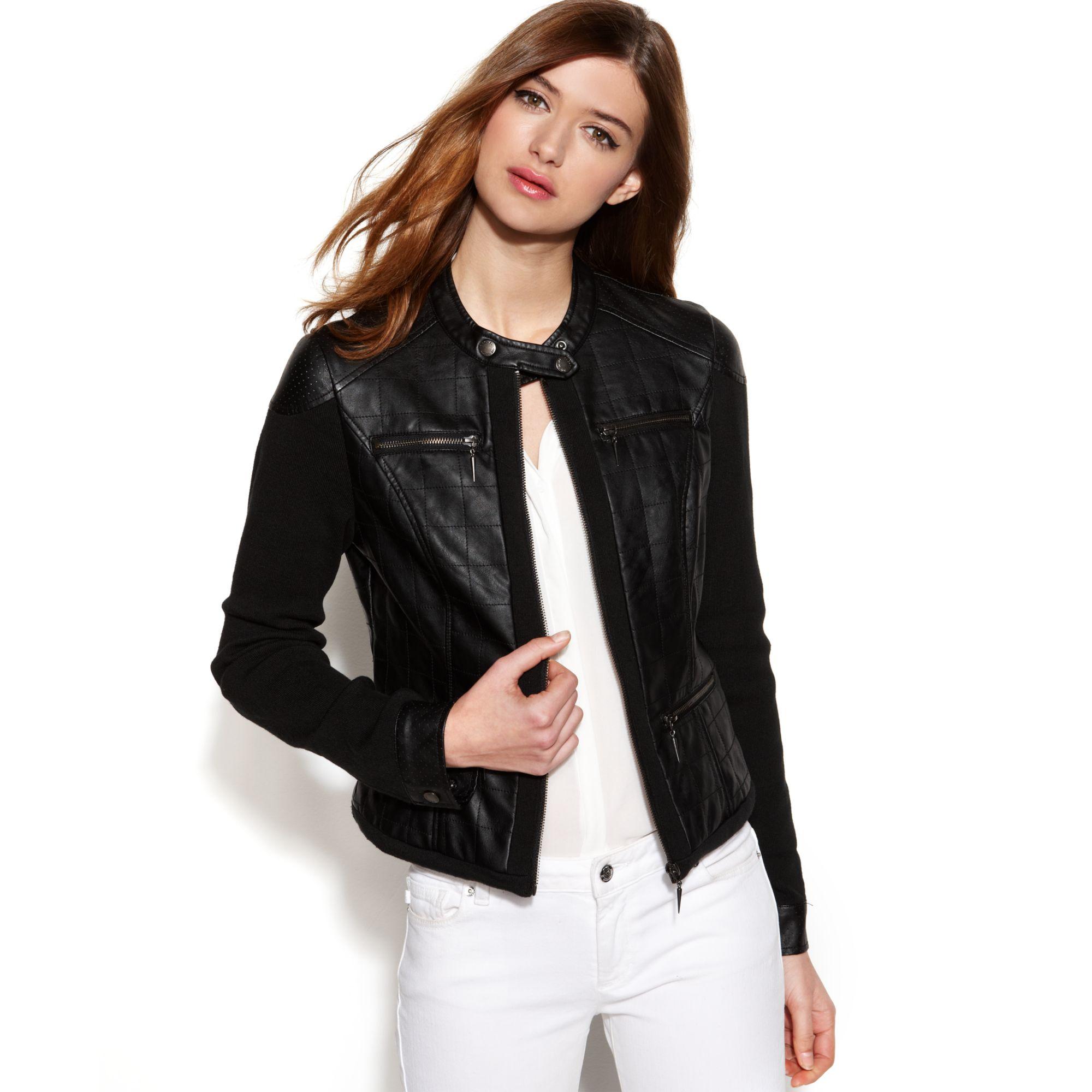 Juniors Faux Leather Jackets - Jacket