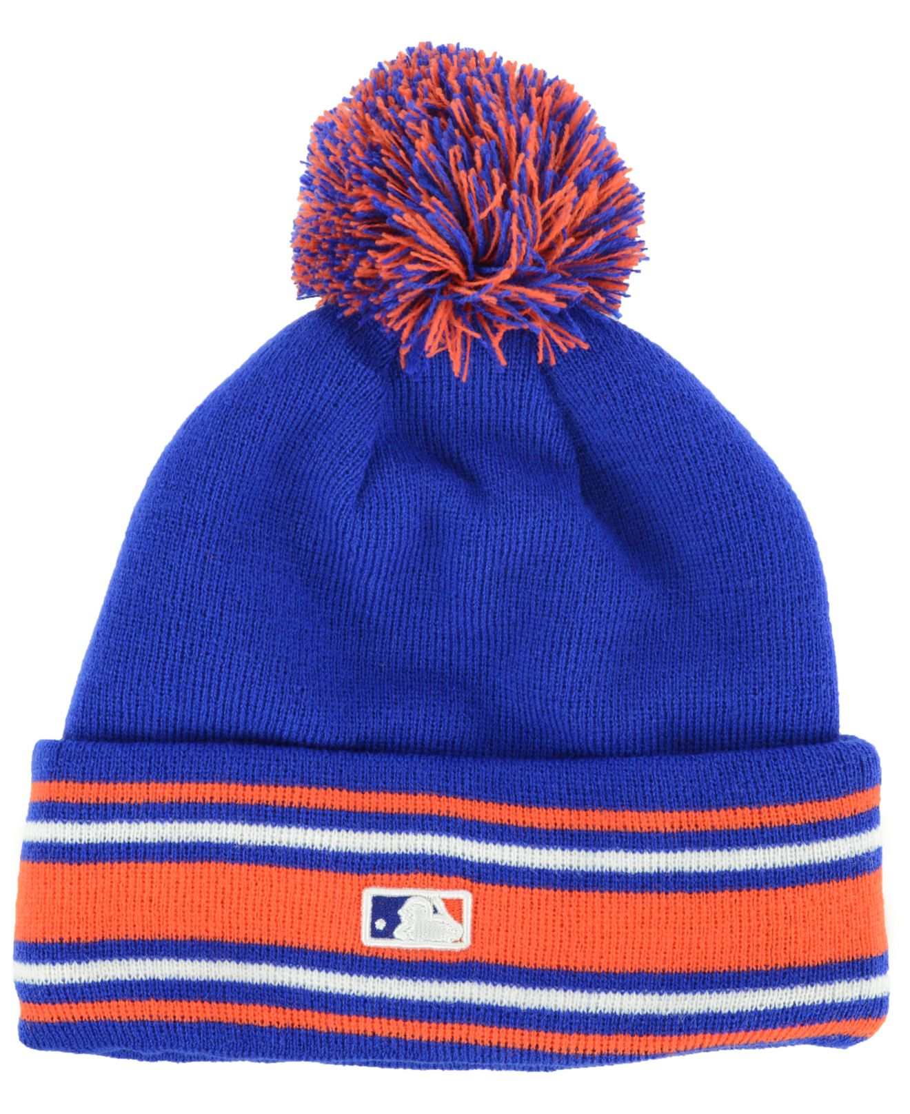 in stock 50809 755bc purchase new era houston astros mlb ne17 sport knit hat with pom aa503  65d22  coupon code for lyst ktz new york mets mlb ac knit in blue for men  74dcd