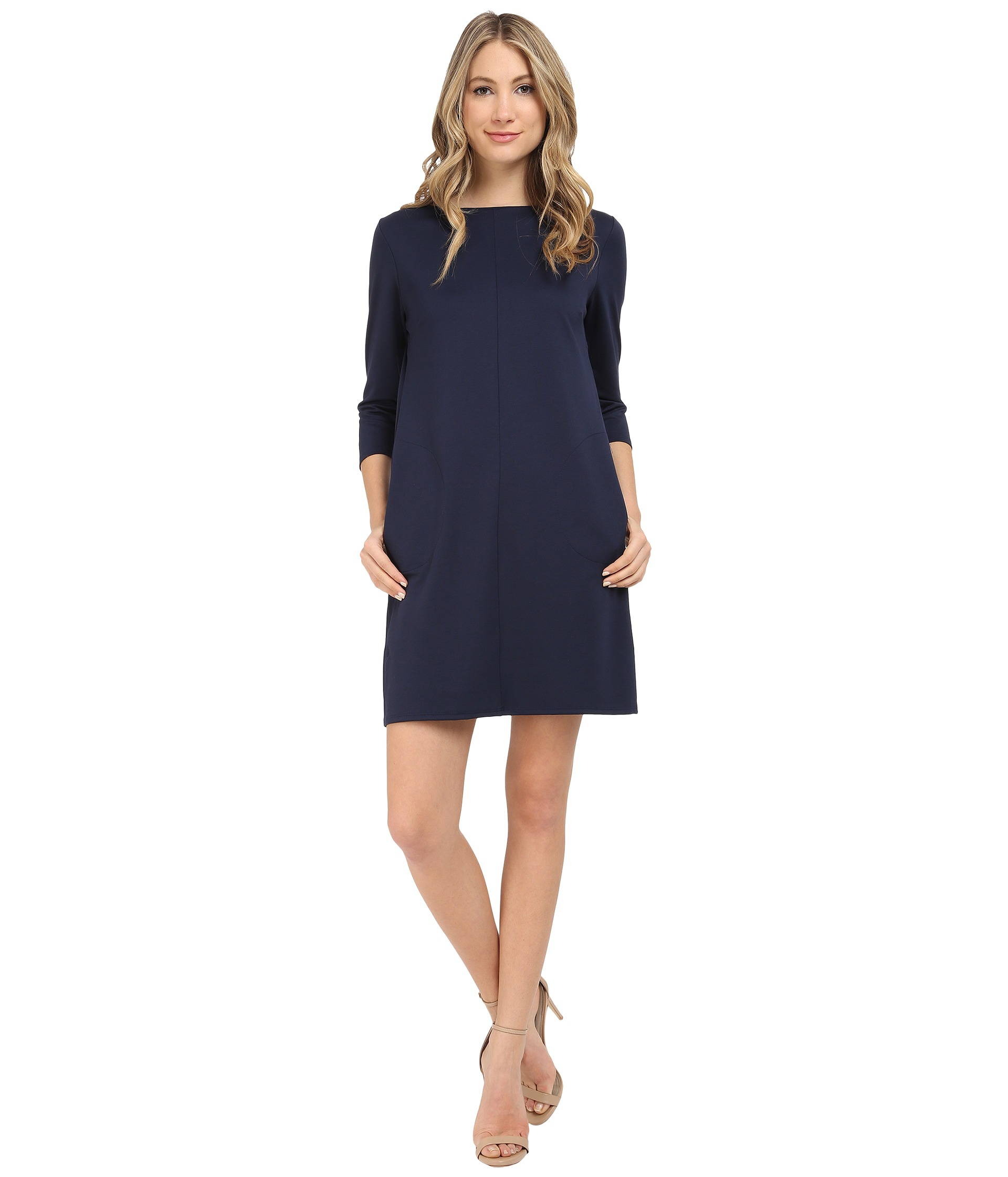 Brigitte bailey Calin 3/4 Sleeve Dress With Pockets in ...
