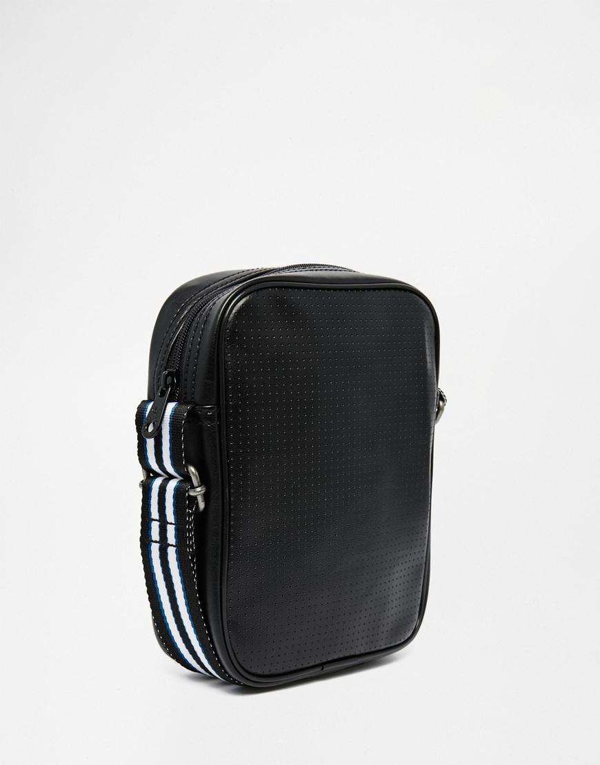 Lyst - adidas Originals Perforated Flight Bag in Black for Men 845ec8d5ff20a