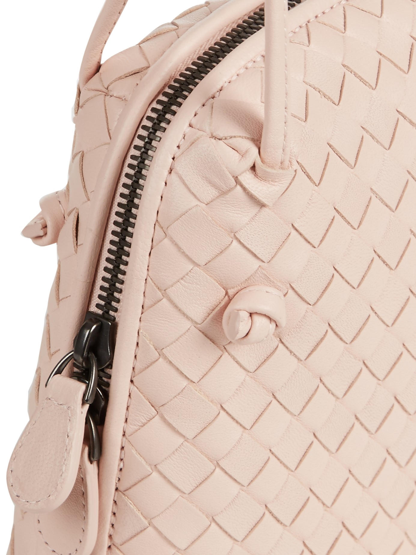 5efbf19dba05 Bottega Veneta Nodini Intrecciato Leather Cross-body Bag in Pink - Lyst
