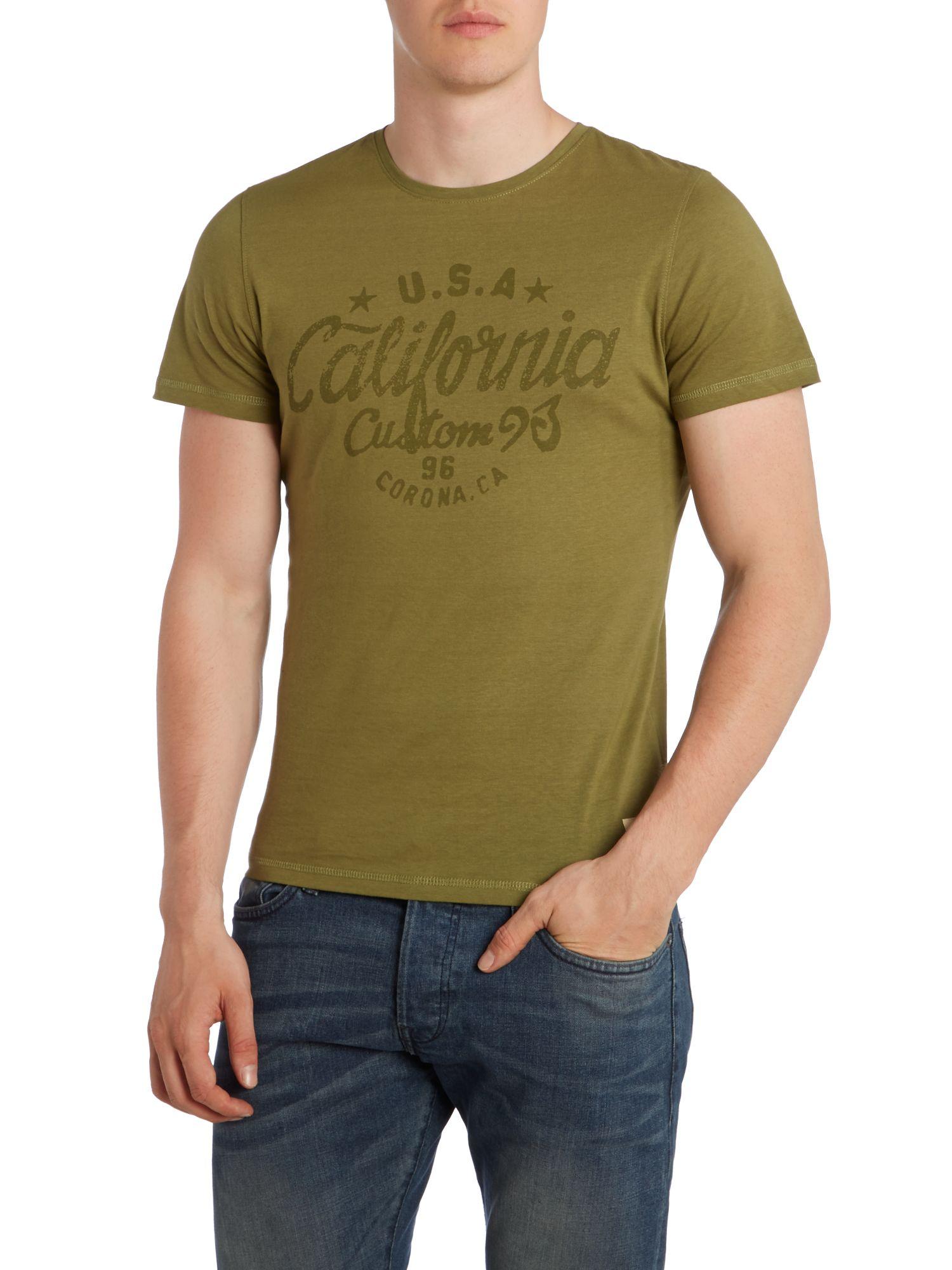 blend slim fit t shirt in green for men lyst. Black Bedroom Furniture Sets. Home Design Ideas