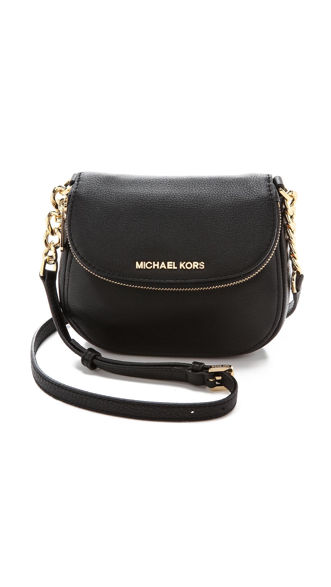 584c54f43fb9 MICHAEL Michael Kors Bedford Flap Cross Body Bag Luggage in Black - Lyst