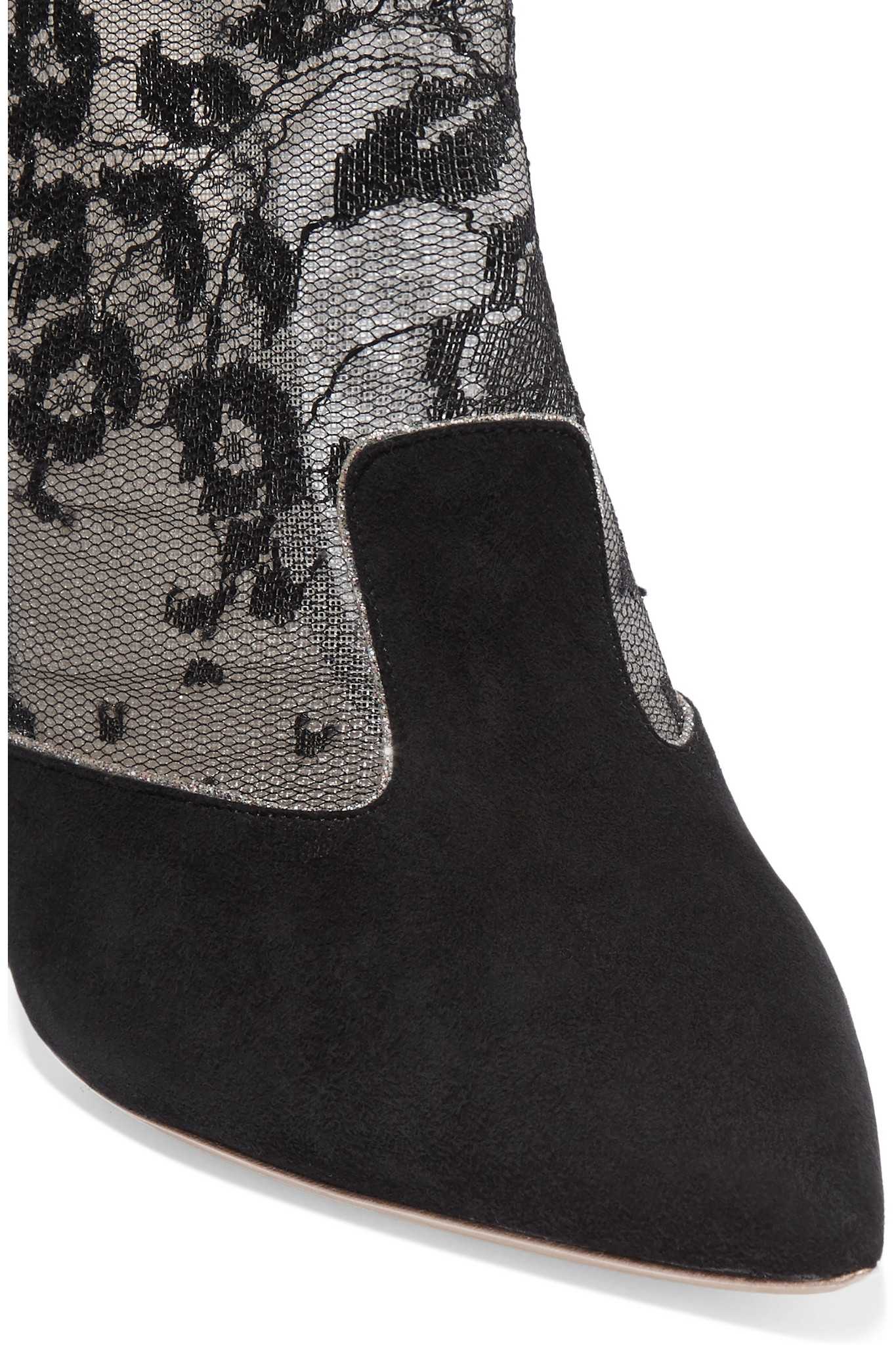Nicholas Kirkwood Angie Suede And Lace Boots in Black