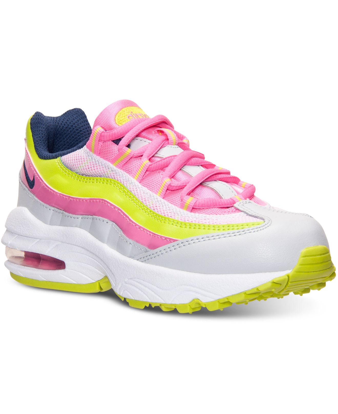 pretty nice c311a a2bae Women's Pink Little Girls' Air Max 95 Running Sneakers From Finish Line