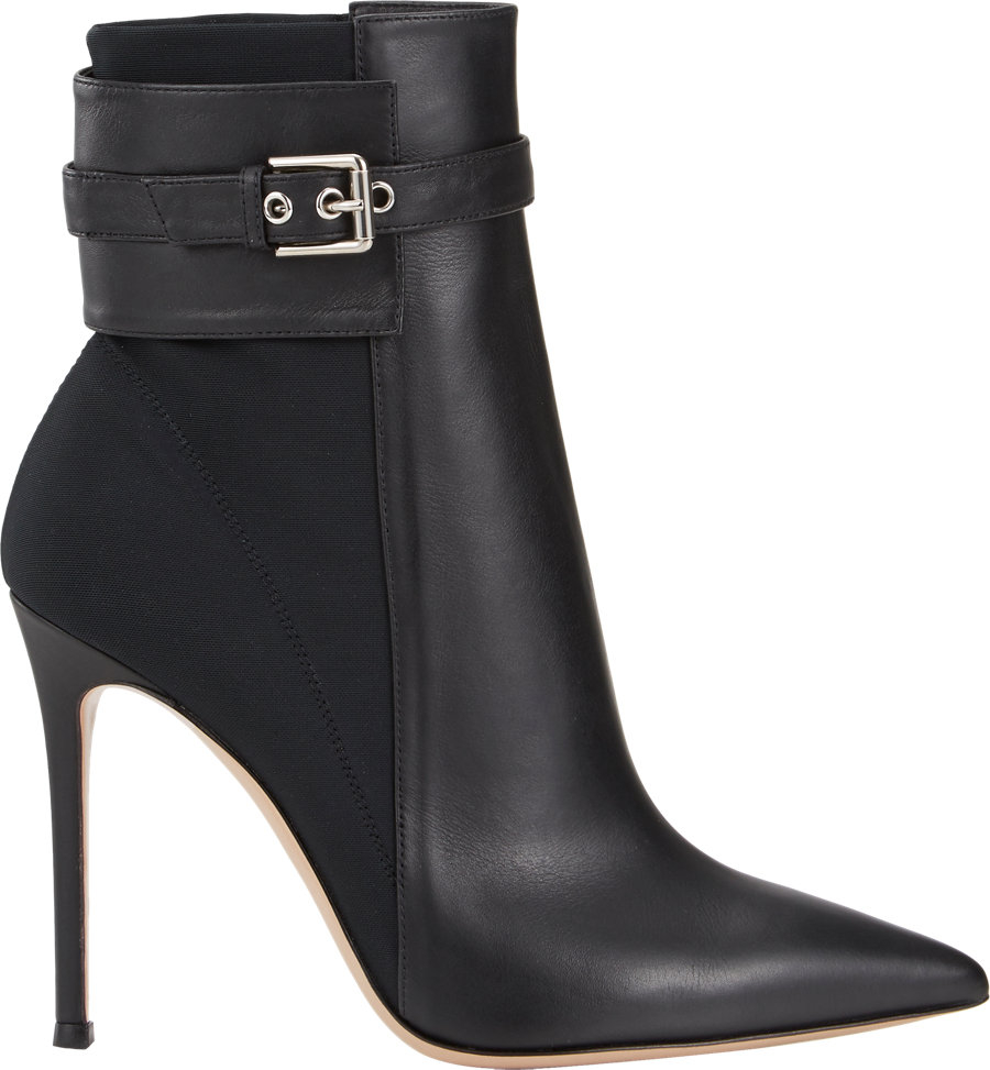 gianvito rossi ankle cuff boots in black lyst. Black Bedroom Furniture Sets. Home Design Ideas