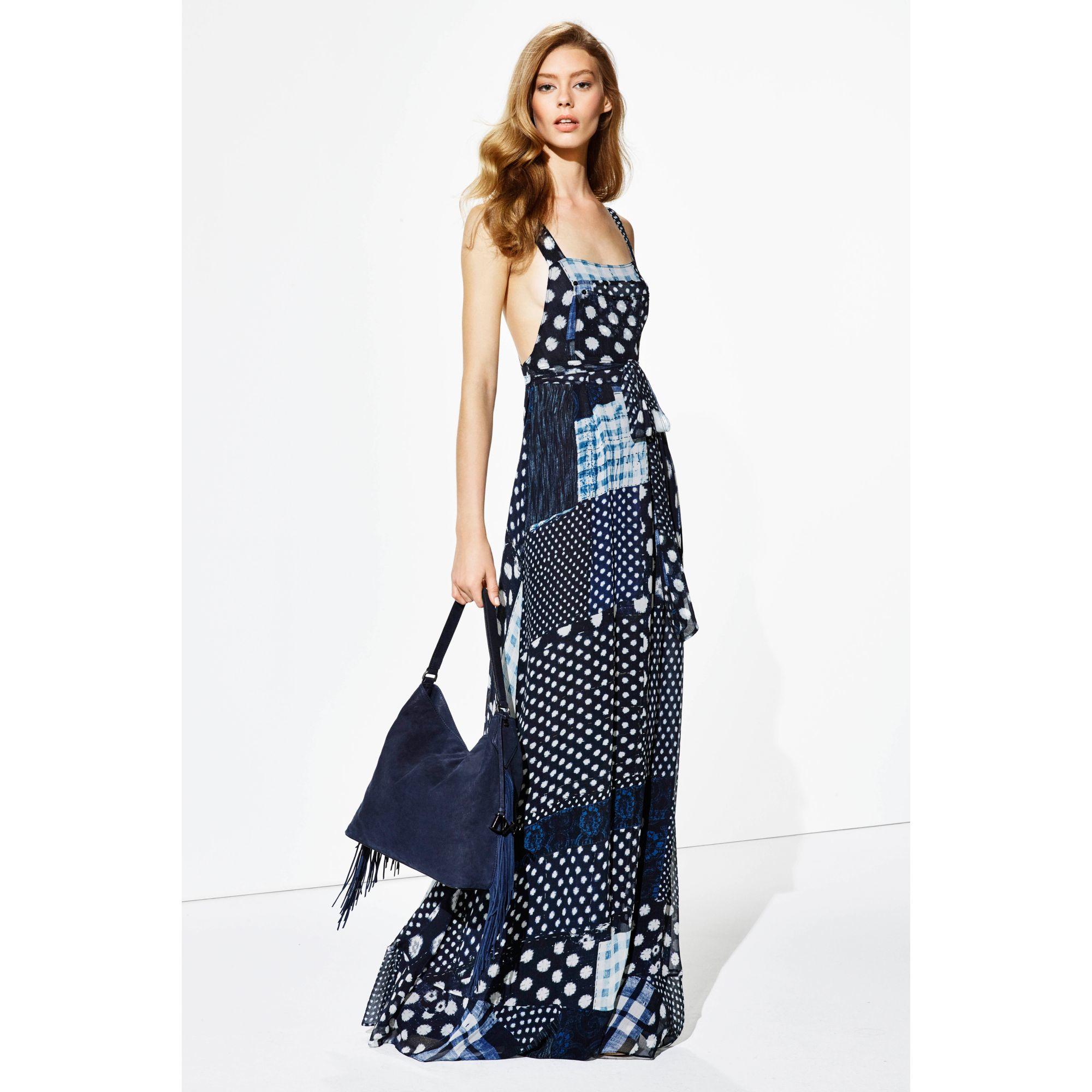 Diane von furstenberg Dvf Georginna Chiffon Apron Maxi Dress in ...