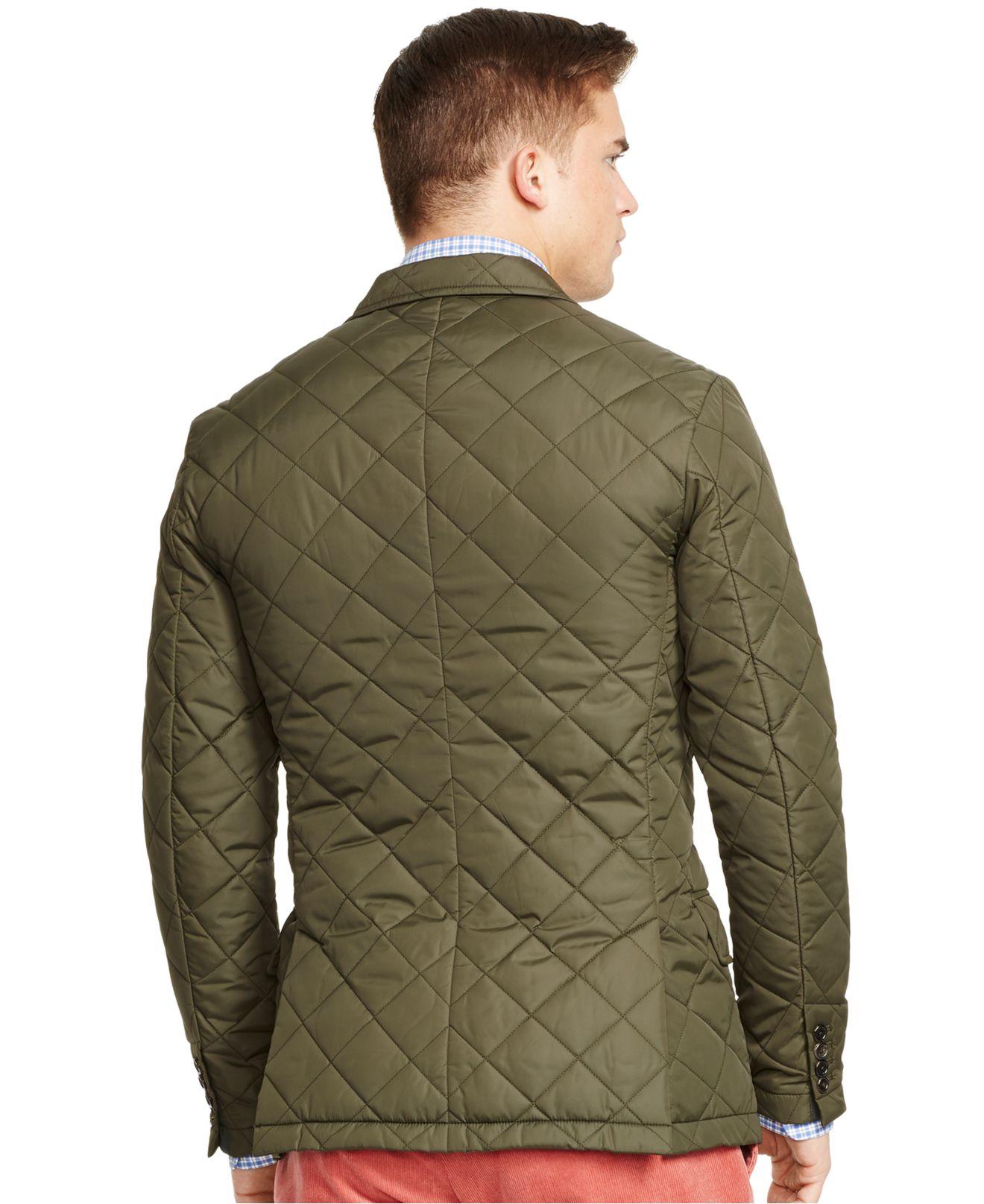Lyst Polo Ralph Lauren Quilted Sport Coat In Green For Men