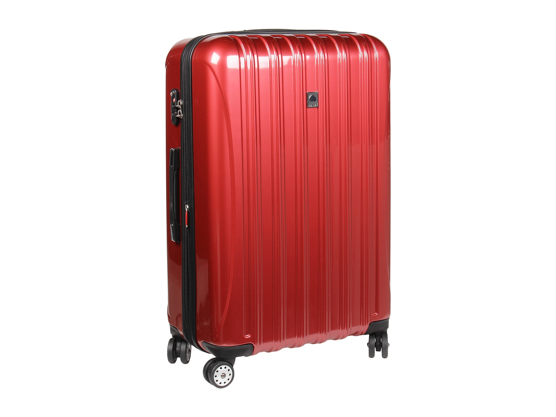 delsey helium aero 29 expandable spinner trolley in red lyst. Black Bedroom Furniture Sets. Home Design Ideas