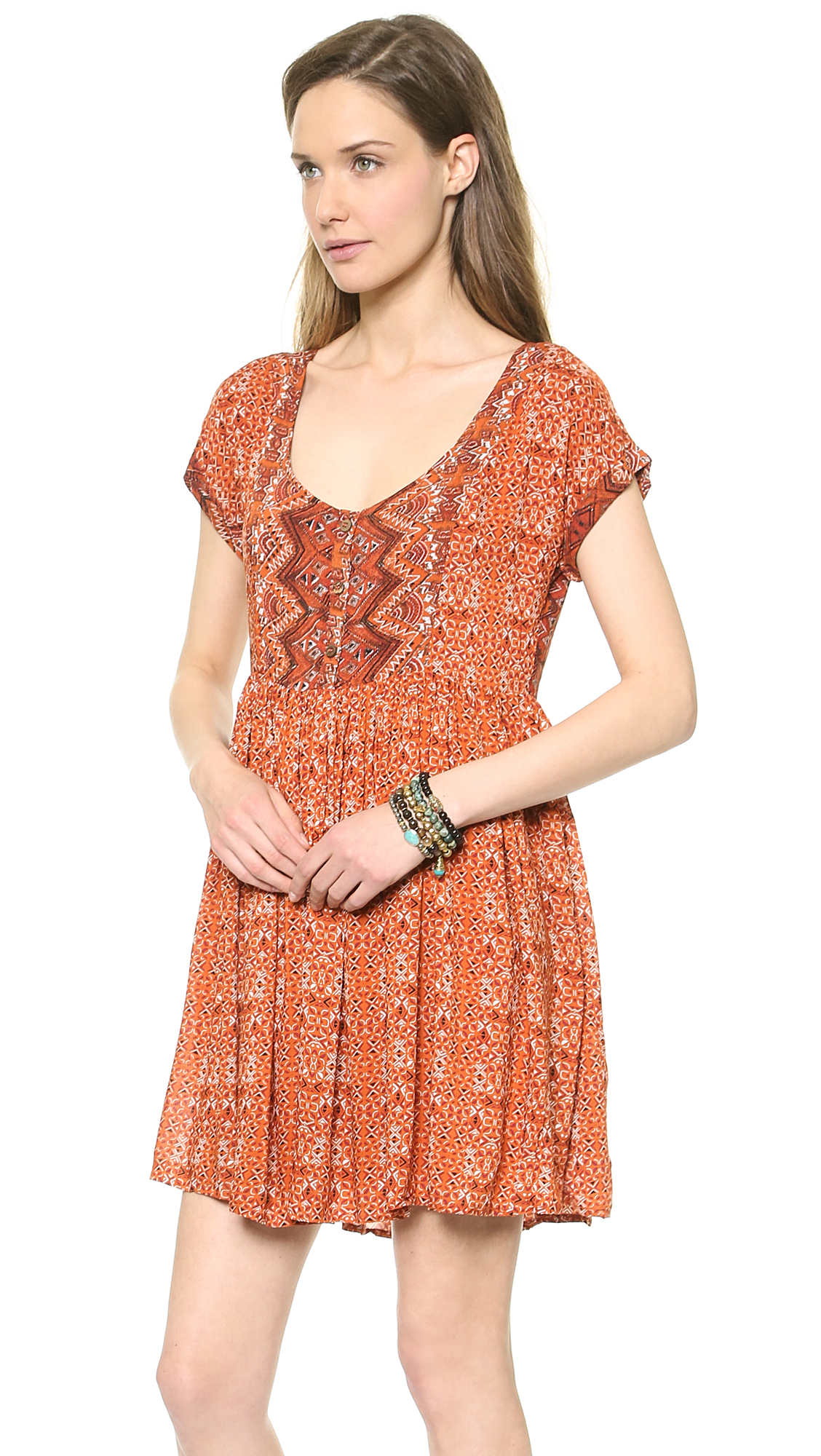 4480412d1497 Gallery. Previously sold at  Shopbop · Women s Babydoll Dress Women s Orange  ...