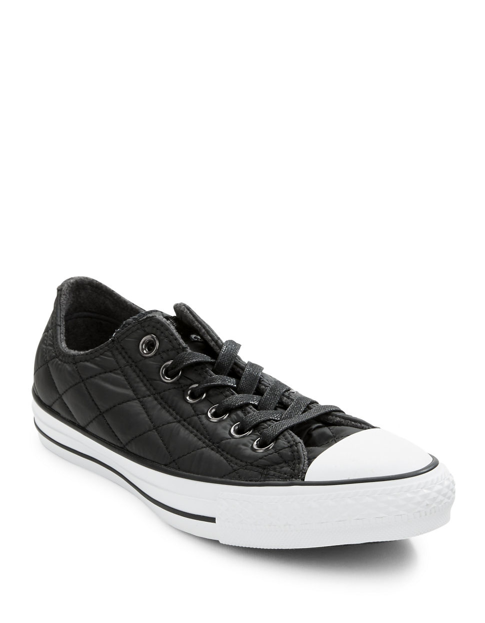Converse Quilted Lace Up Sneakers In Black Lyst