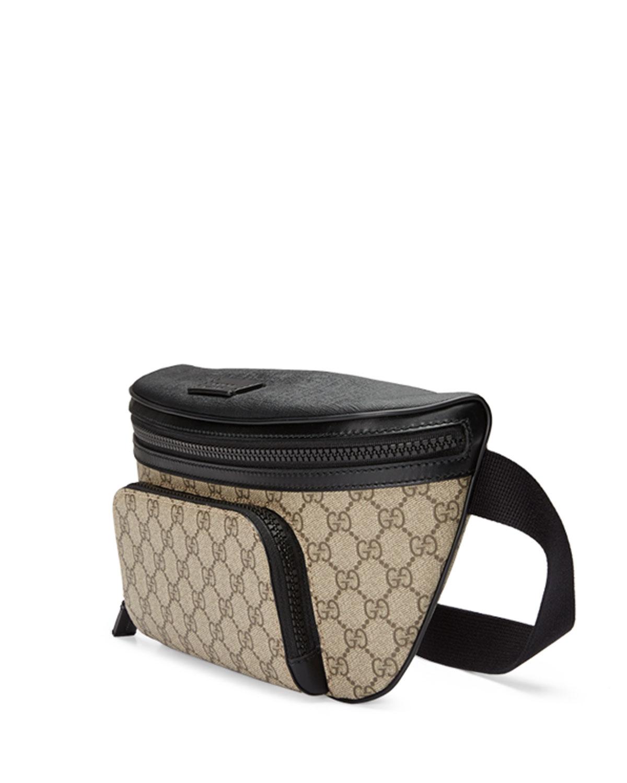 cdc607e3282b Gucci Eden Gg Supreme Belt Bag in Black for Men - Lyst