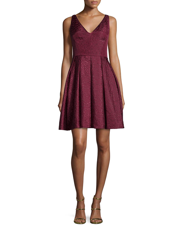 Erin Fetherston Coco Sleeveless V Neck Fit Flare Dress