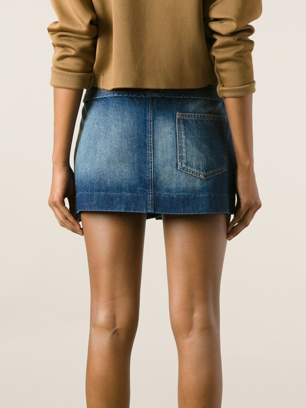 Blue Jean Mini Skirts - Dress Ala