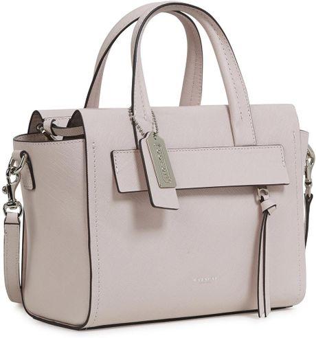 coach riley light pink leather crossbody bag in pink lyst. Black Bedroom Furniture Sets. Home Design Ideas