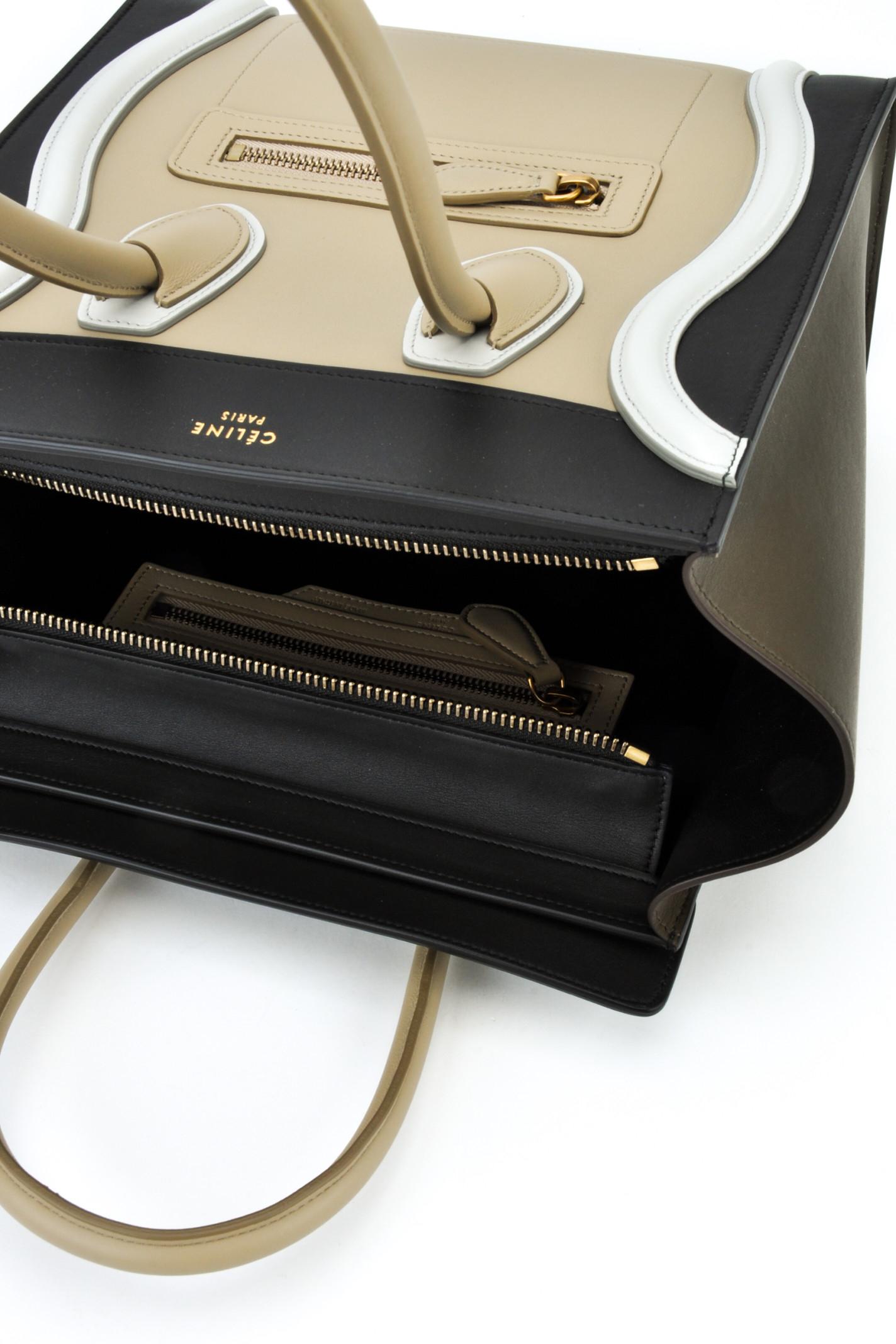 C¨¦line Borsa Micro Luggage in Beige | Lyst