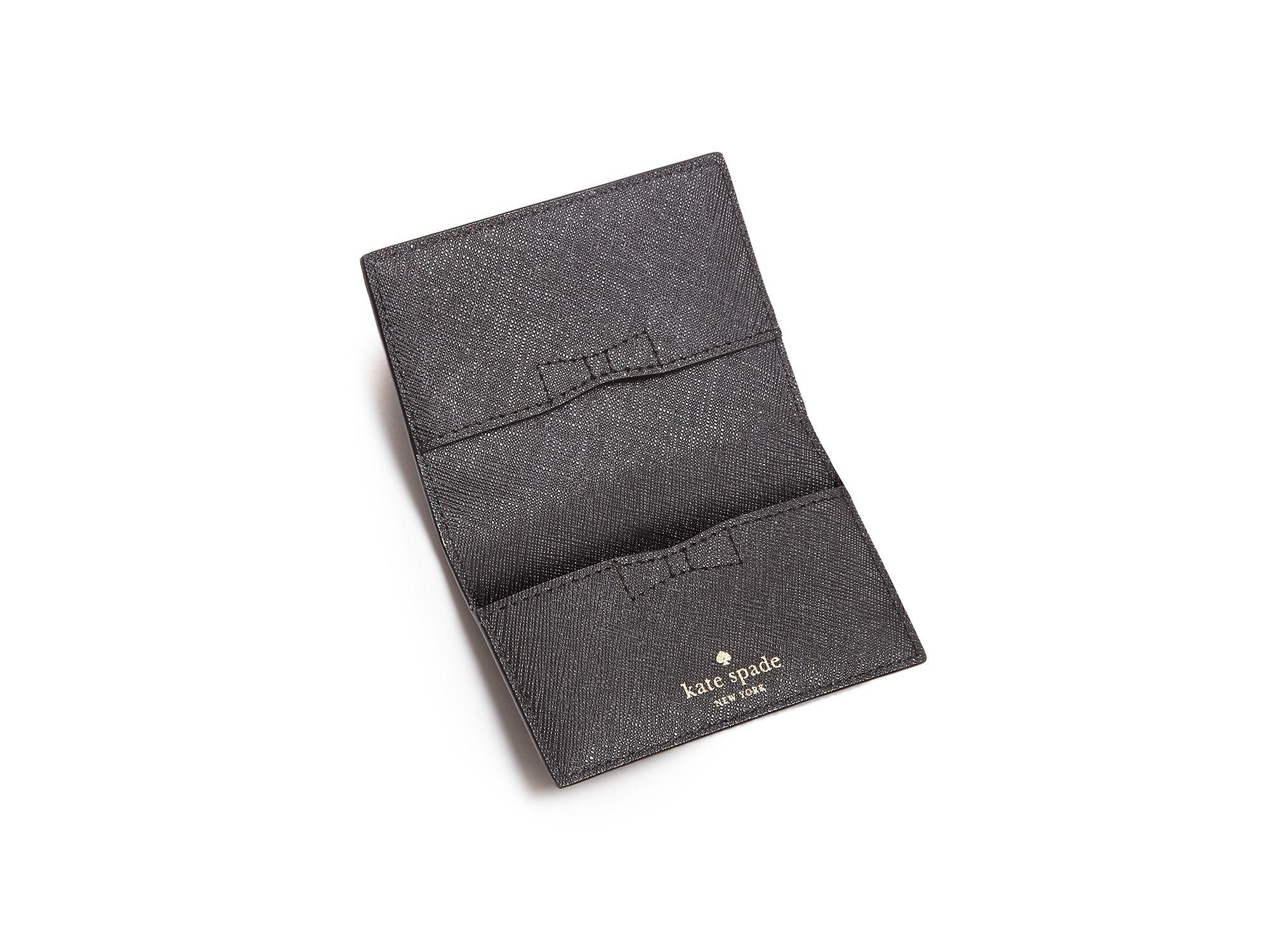 Kate spade new york black cedar street melanie card case product 1 702640728 normal