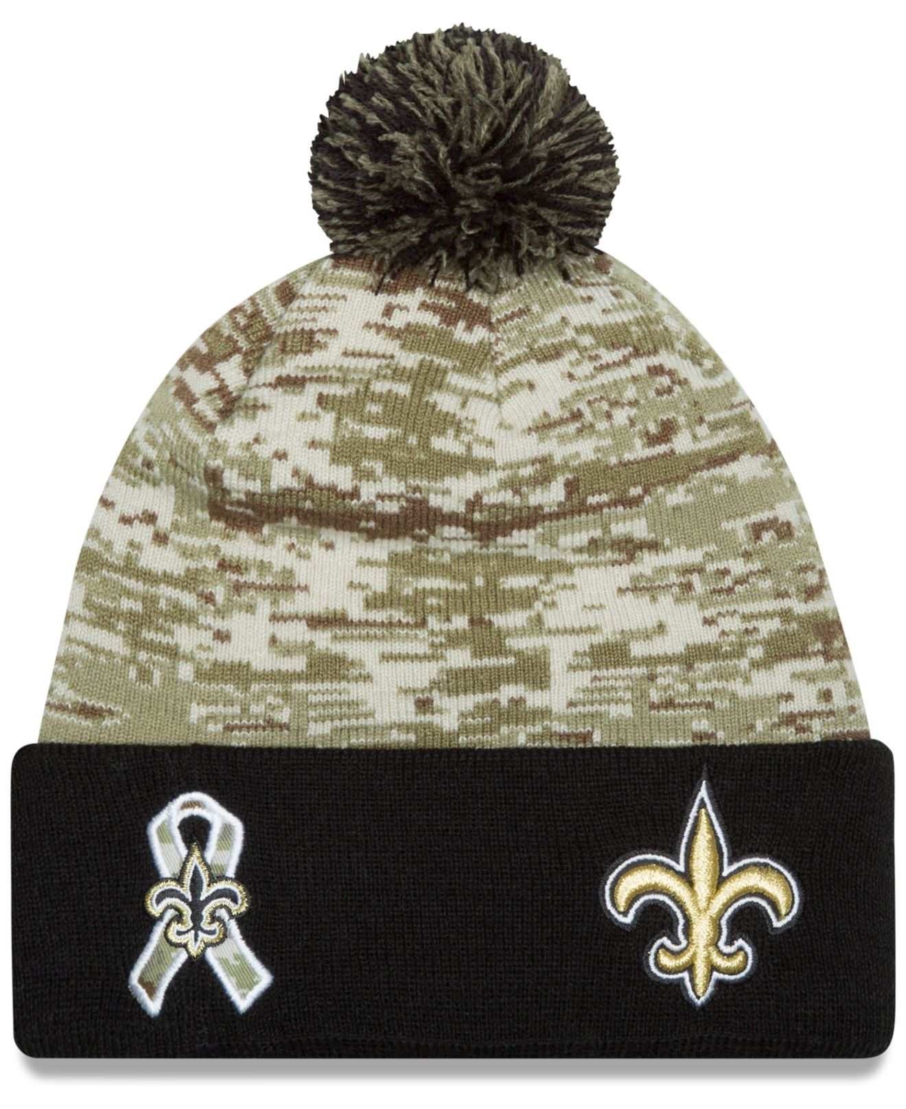 Ktz New Orleans Saints Salute To Service Knit Hat in Green for Men ...