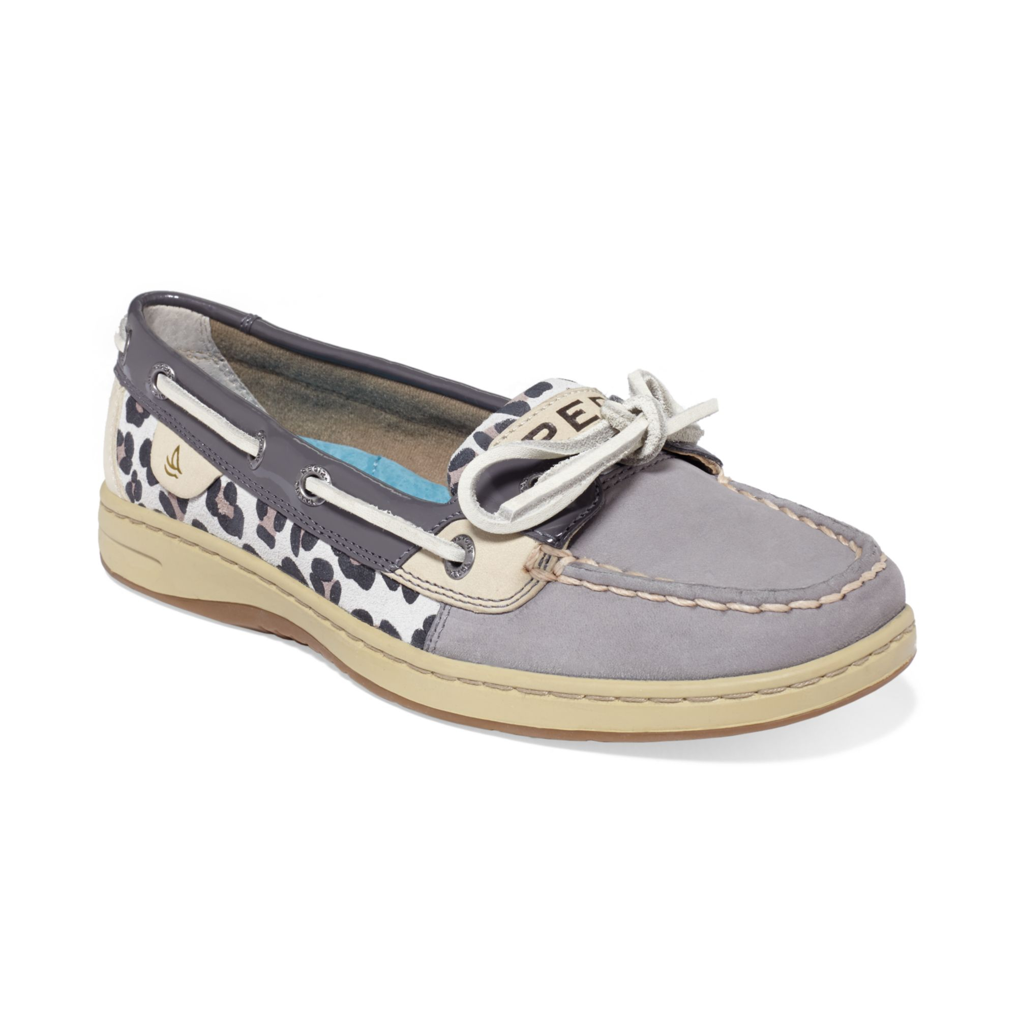 sperry top sider womens angelfish boat shoes in gray lyst