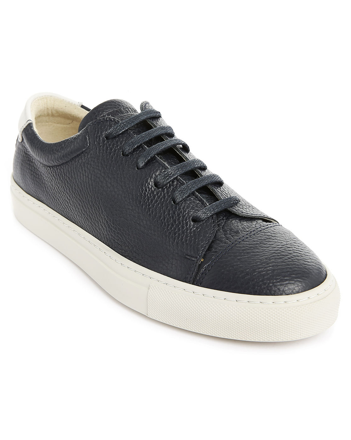 national standard edition 3 navy chevron leather sneakers. Black Bedroom Furniture Sets. Home Design Ideas