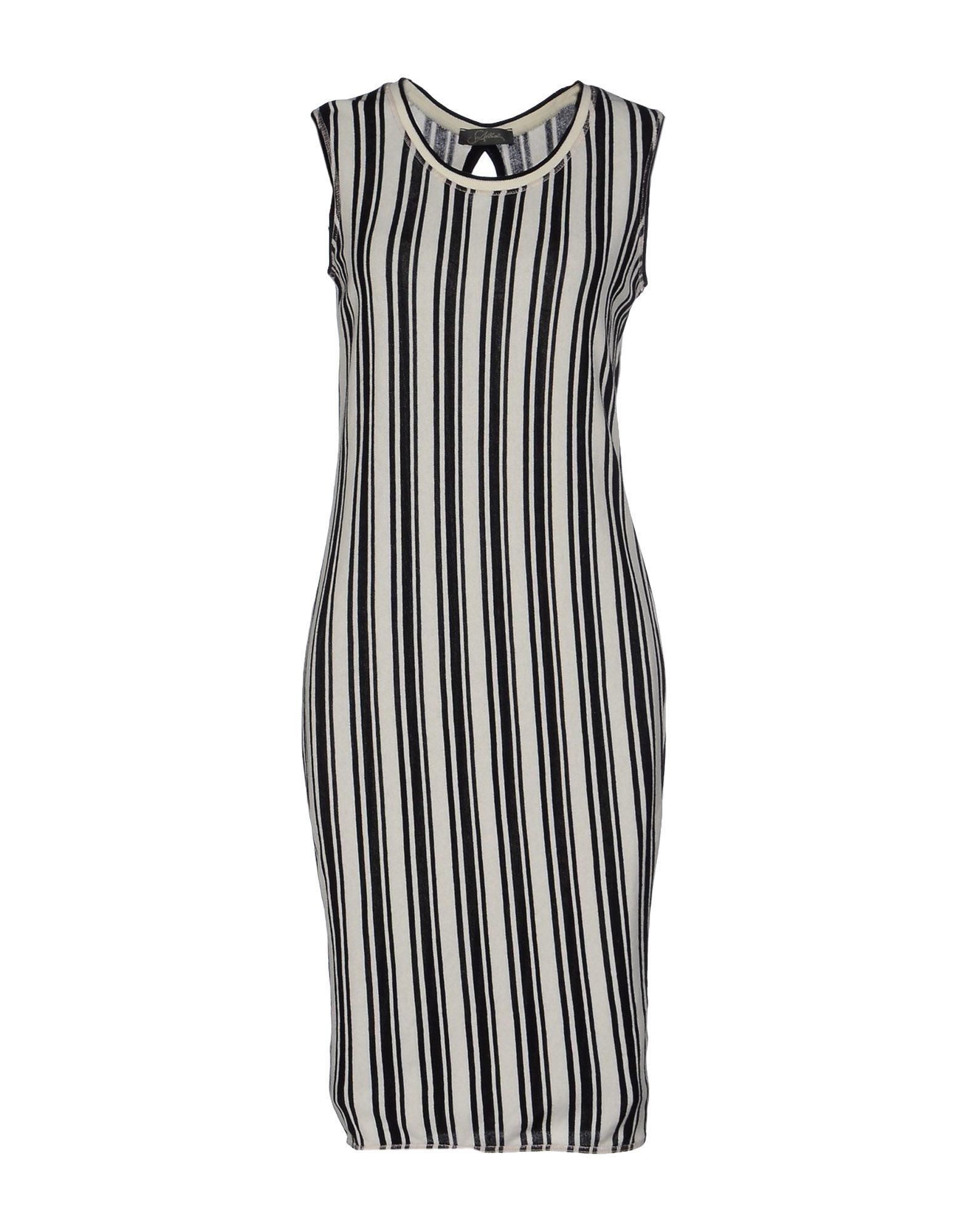 Soallure knee length dress in black lyst