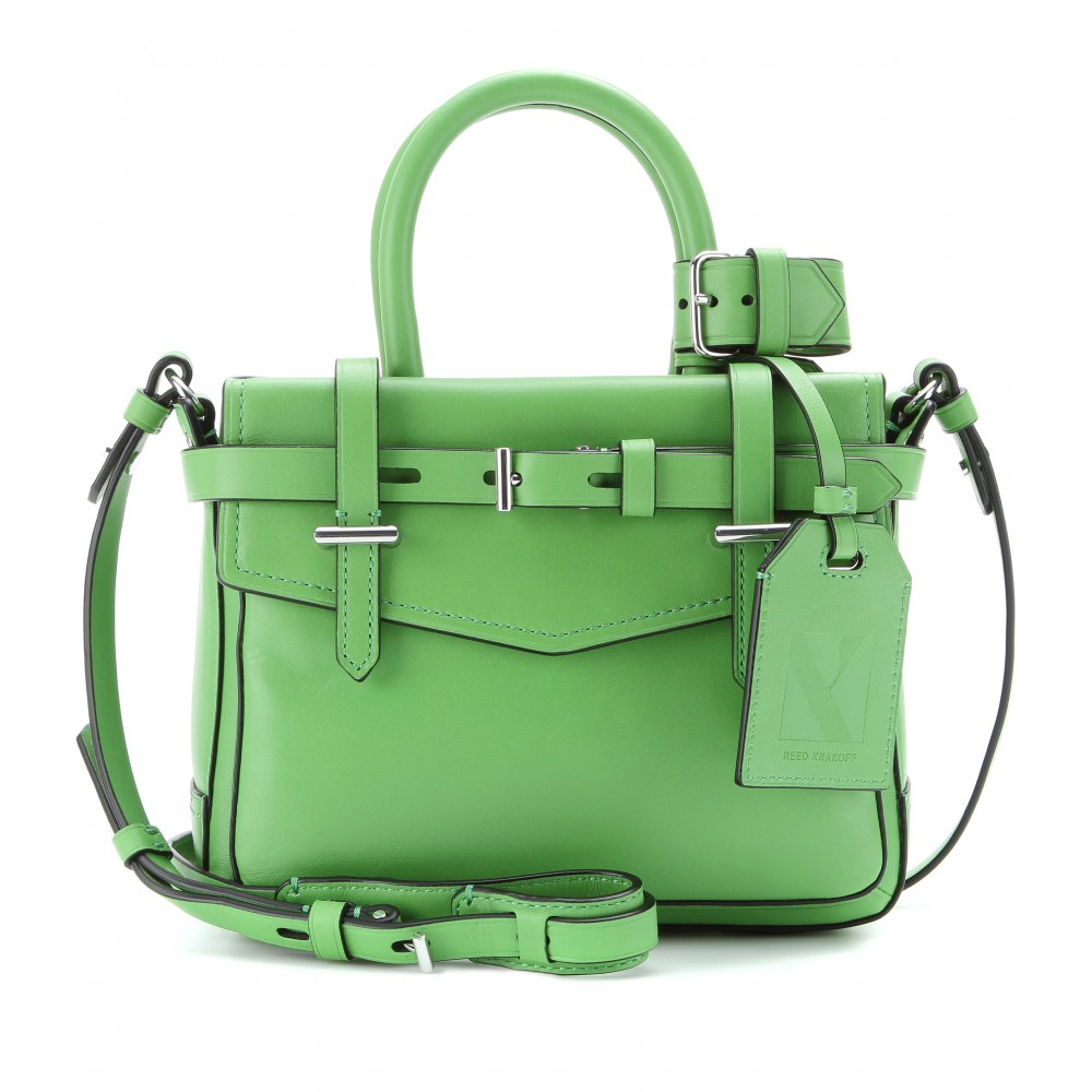 3f73bece70 Lyst - Reed Krakoff Micro Boxer Leather Shoulder Bag in Green