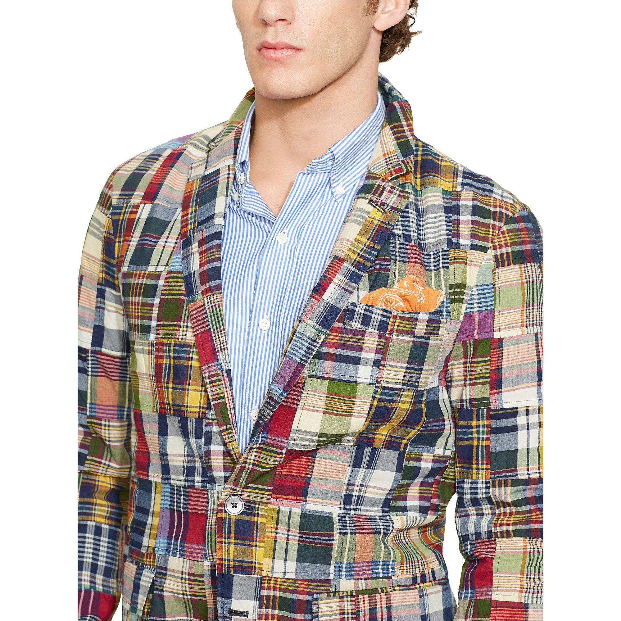 Multicolor Coat Ralph Polo Patchwork Madras Lauren Sport rxCoedBW