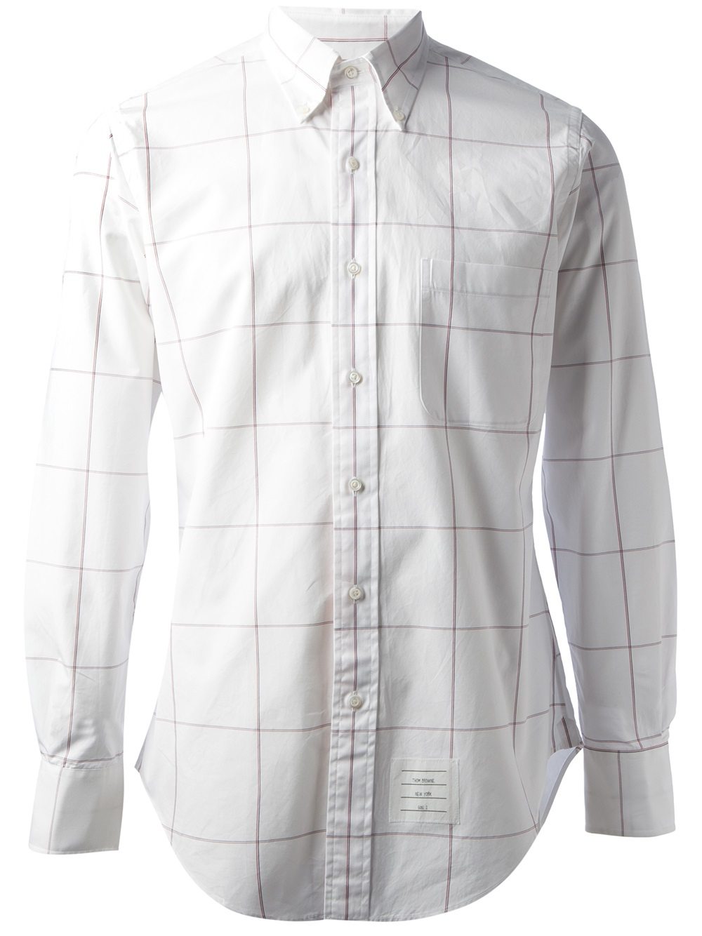 Lyst Thom Browne Window Pane Check Shirt In White For Men