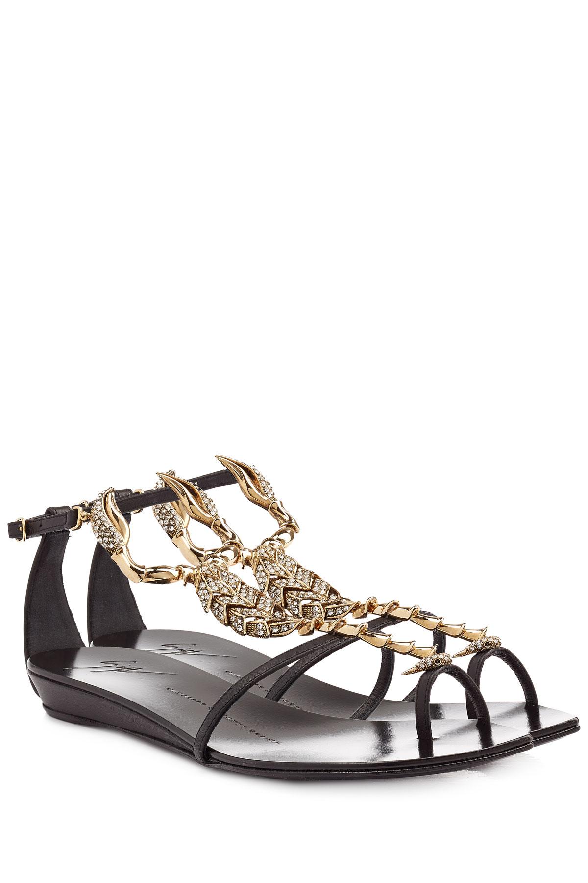 Lyst - Giuseppe Zanotti Bejeweled Scorpion Flat Sandal In ...