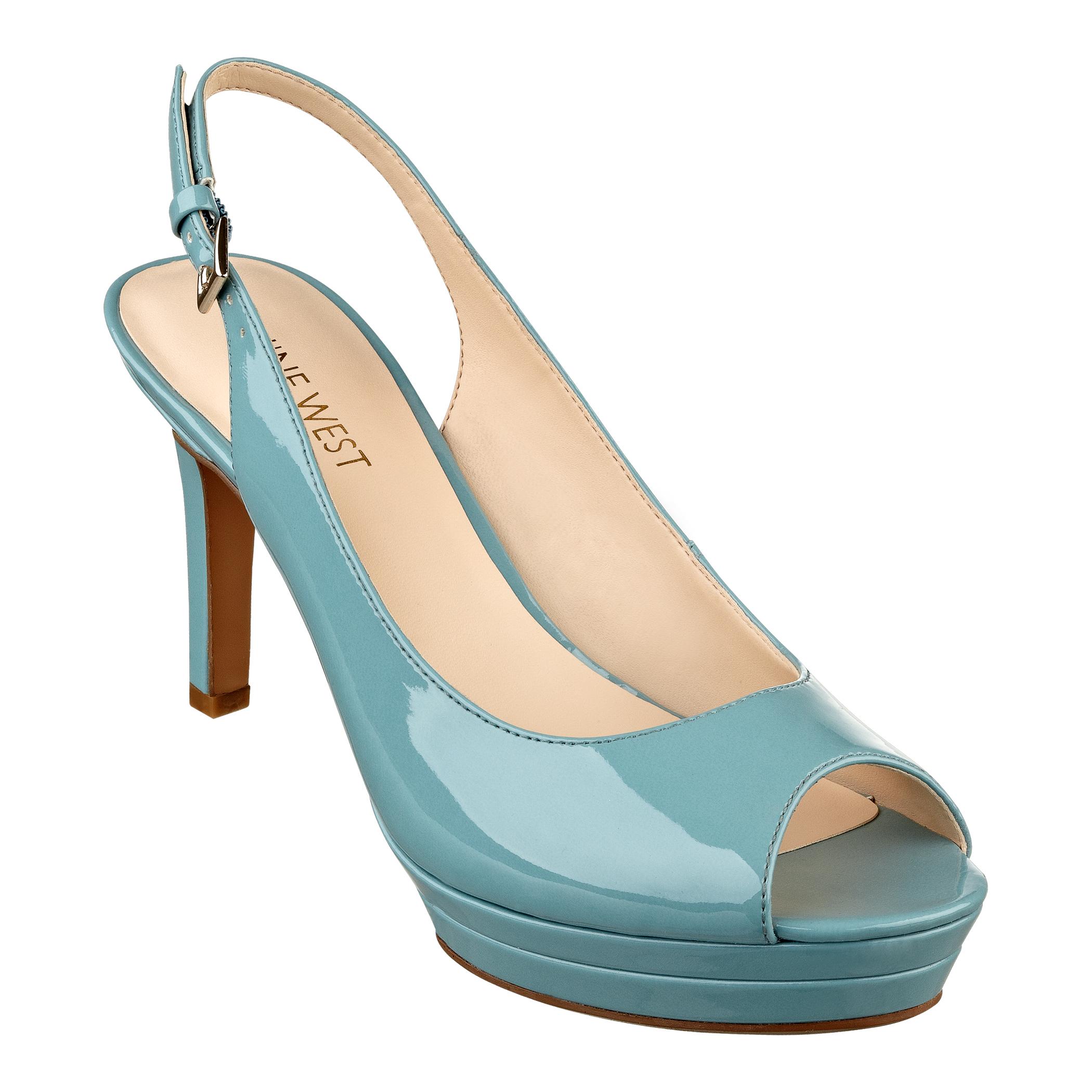 c5eb732ccf6 Lyst - Nine West Able Platform Heels in Blue
