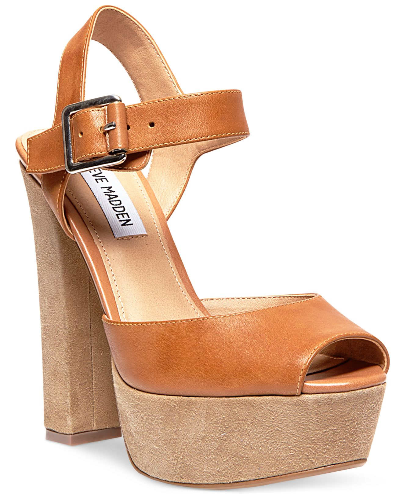 c62e771984e Lyst - Steve Madden Jillyy Two-piece Platform Sandals in Brown
