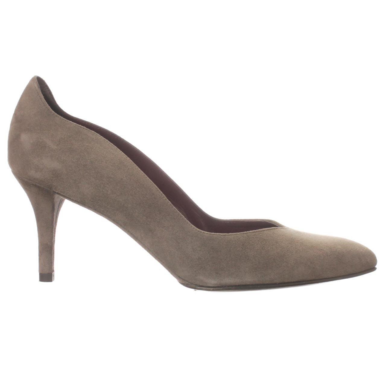 Women S Leather Pump Shoes In Charcoal Gray