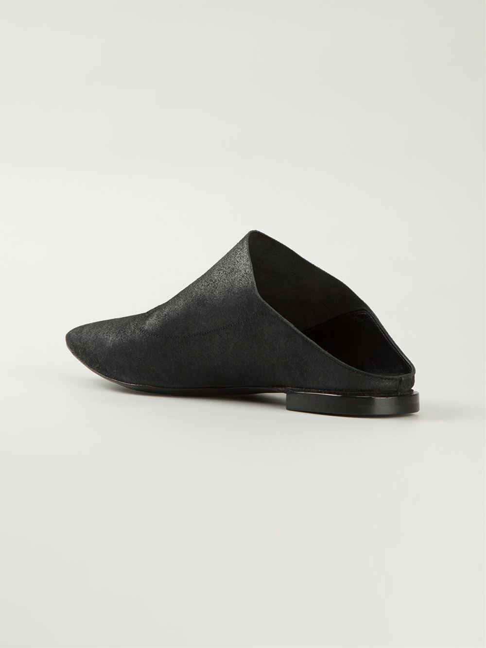 Premiata Pointed Toe Mules In Black Lyst