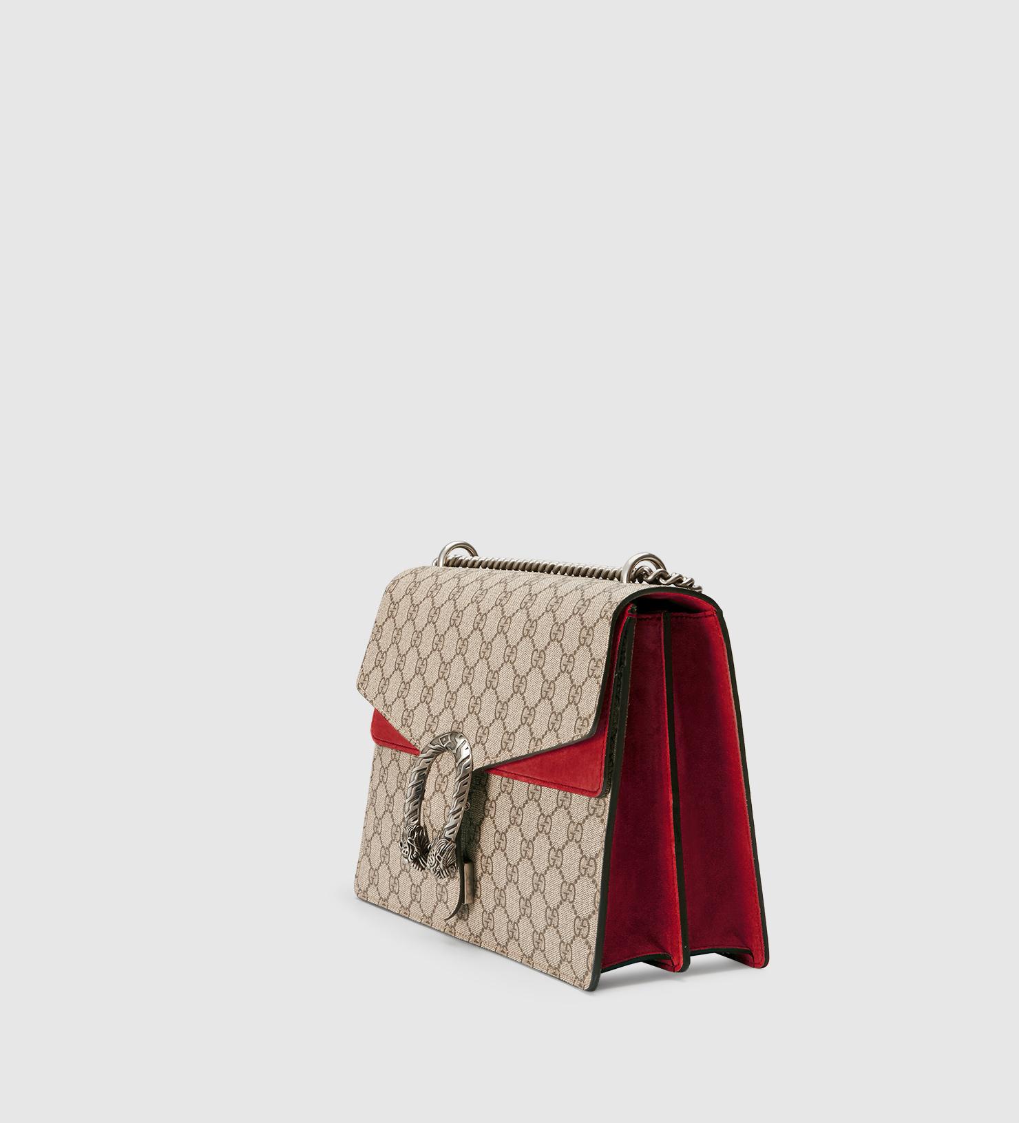 68f2506cbe0 Lyst - Gucci Dionysus GG Supreme Canvas Shoulder Bag in Natural