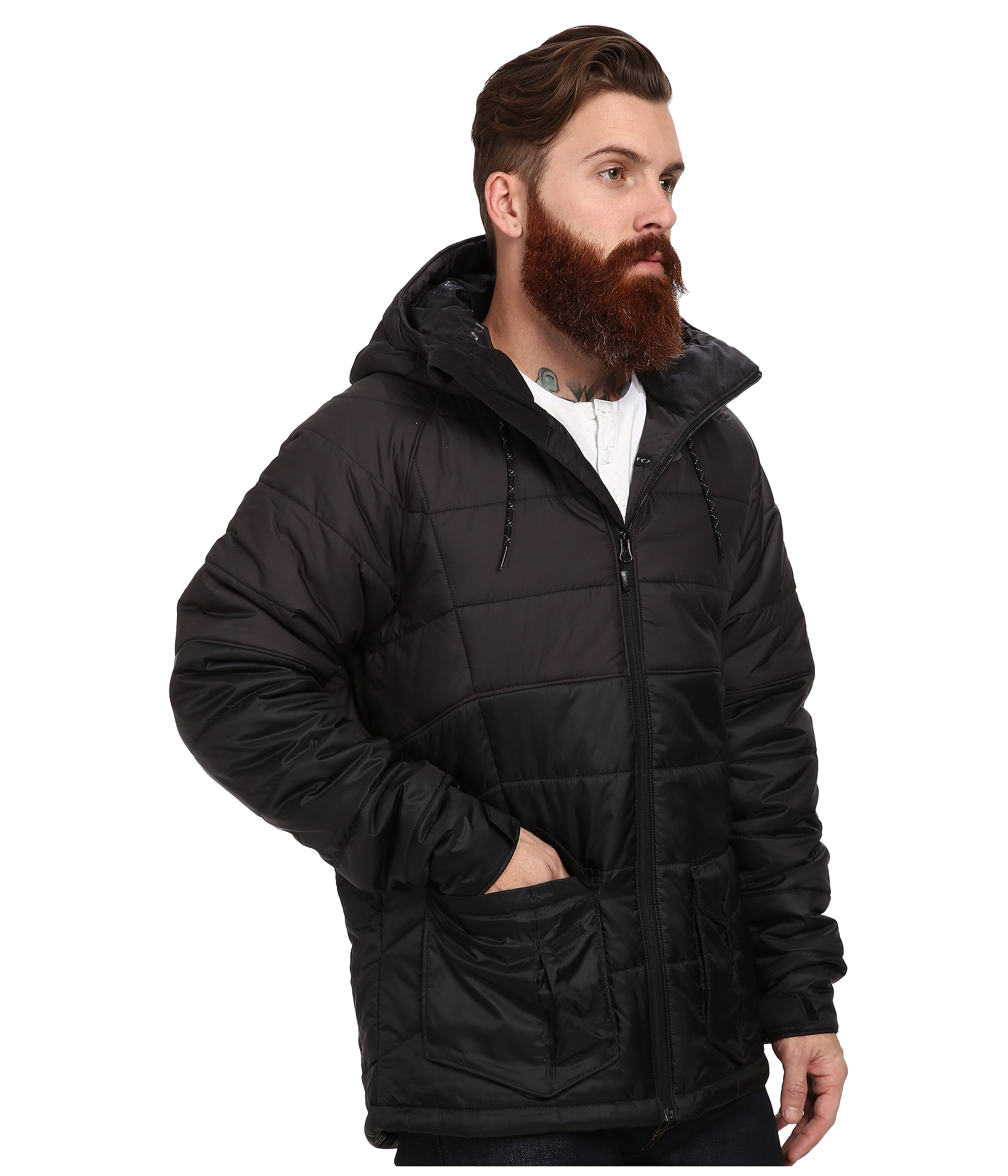 Blazers Hull: Oakley Hull Thinsulate Jacket In Black For Men