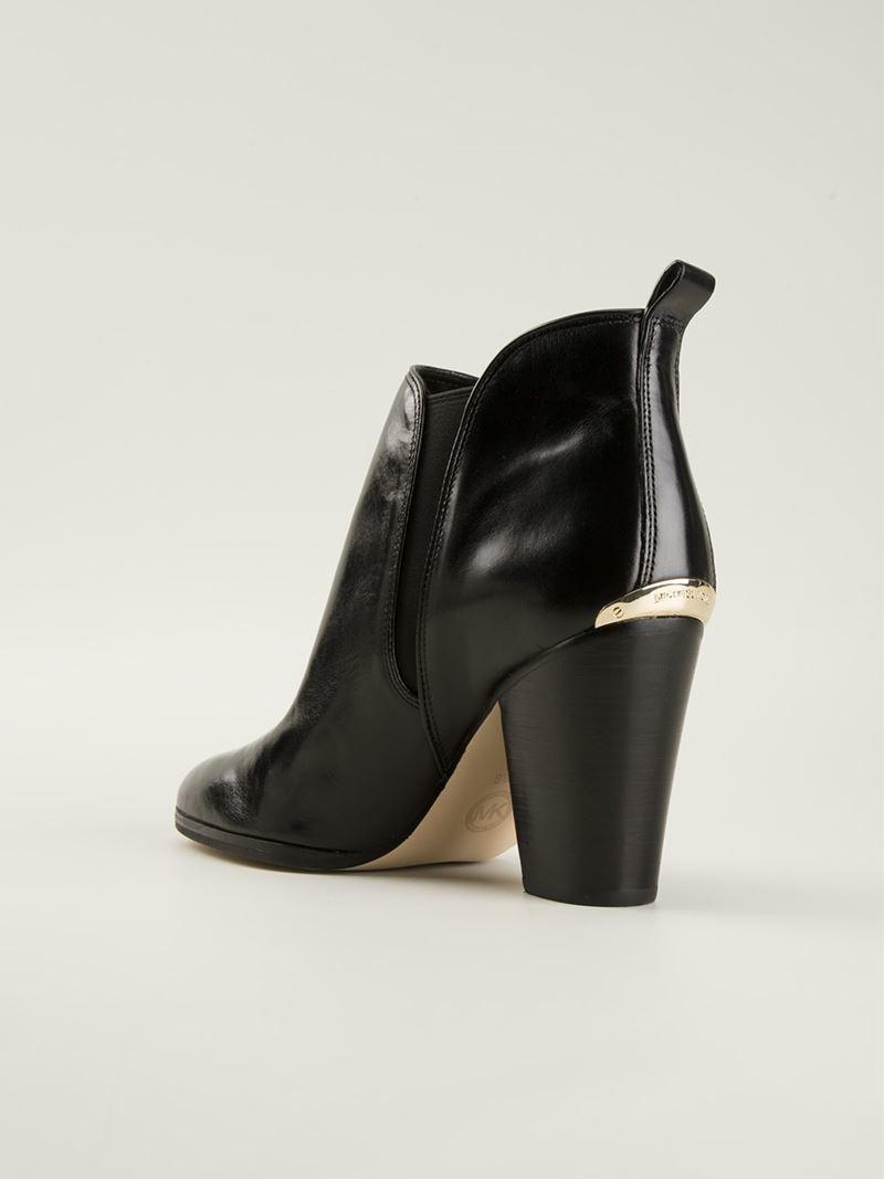 michael michael kors 39 brandy 39 ankle boots in black lyst. Black Bedroom Furniture Sets. Home Design Ideas