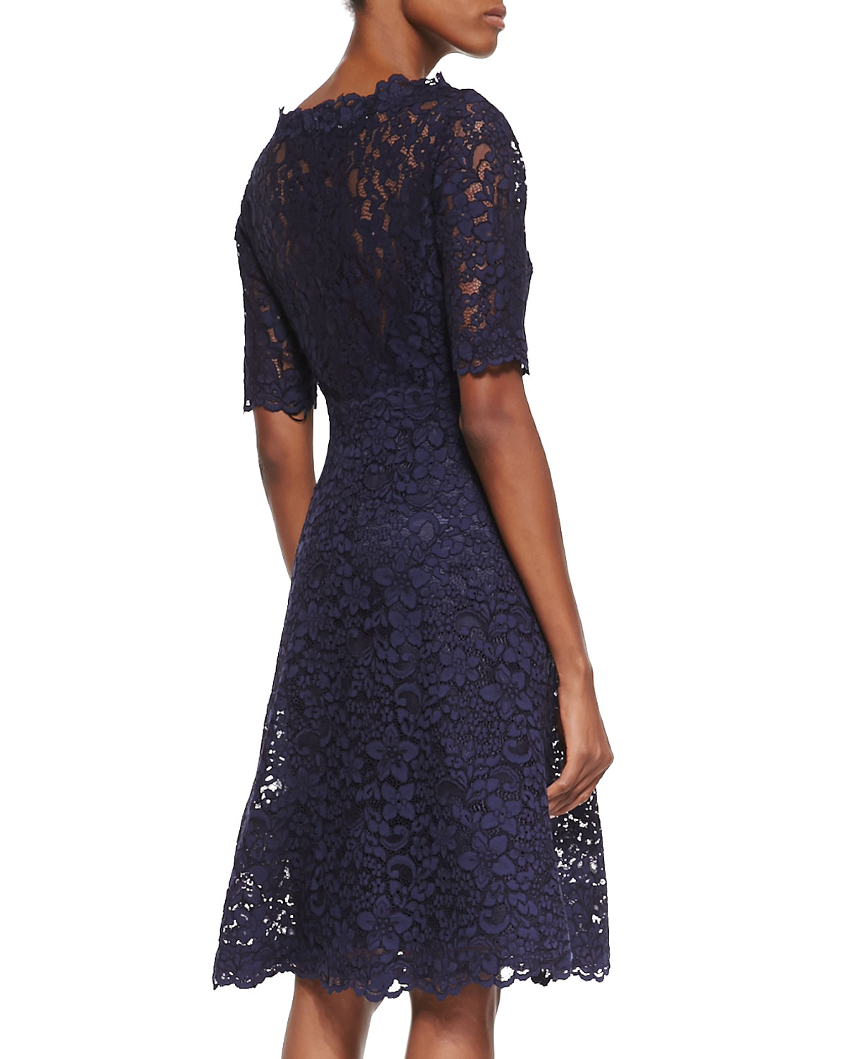 Lyst - Teri Jon Lace Overlay Cocktail Dress in Blue